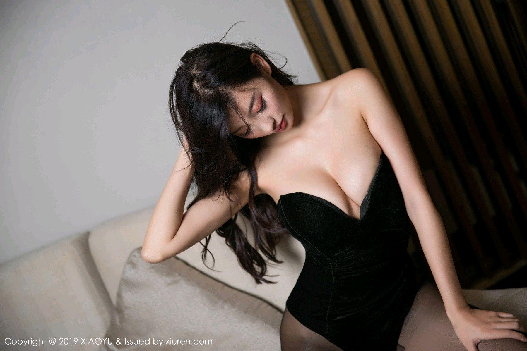 [XiaoYu] Vol.012 Yang Chen Chen 43P, Black Silk, Tall, XiaoYu, Yang Chen Chen