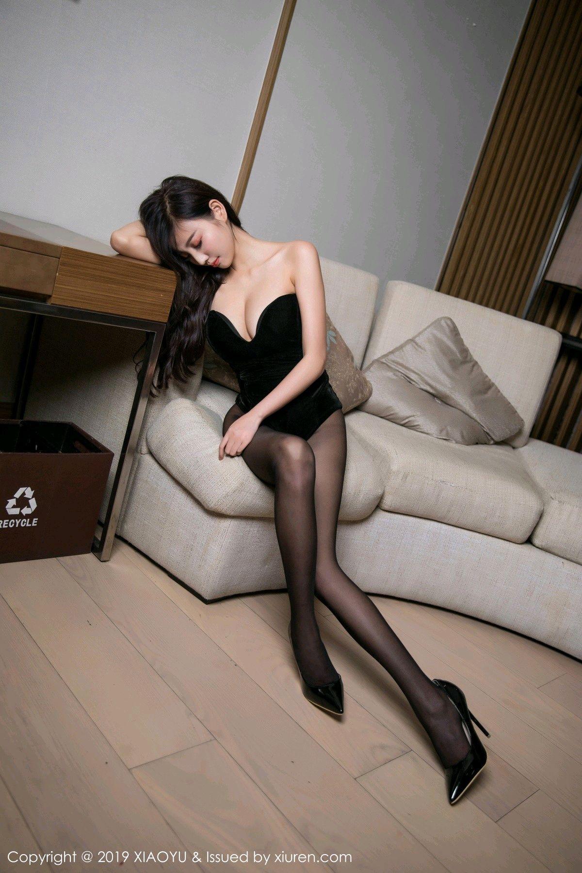 [XiaoYu] Vol.012 Yang Chen Chen 8P, Black Silk, Tall, XiaoYu, Yang Chen Chen