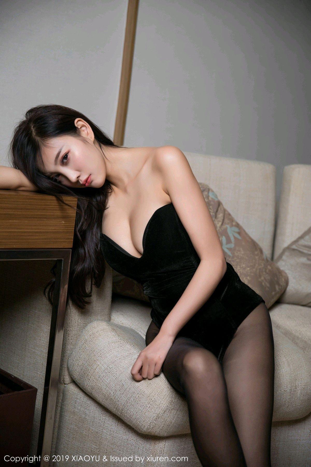 [XiaoYu] Vol.012 Yang Chen Chen 9P, Black Silk, Tall, XiaoYu, Yang Chen Chen