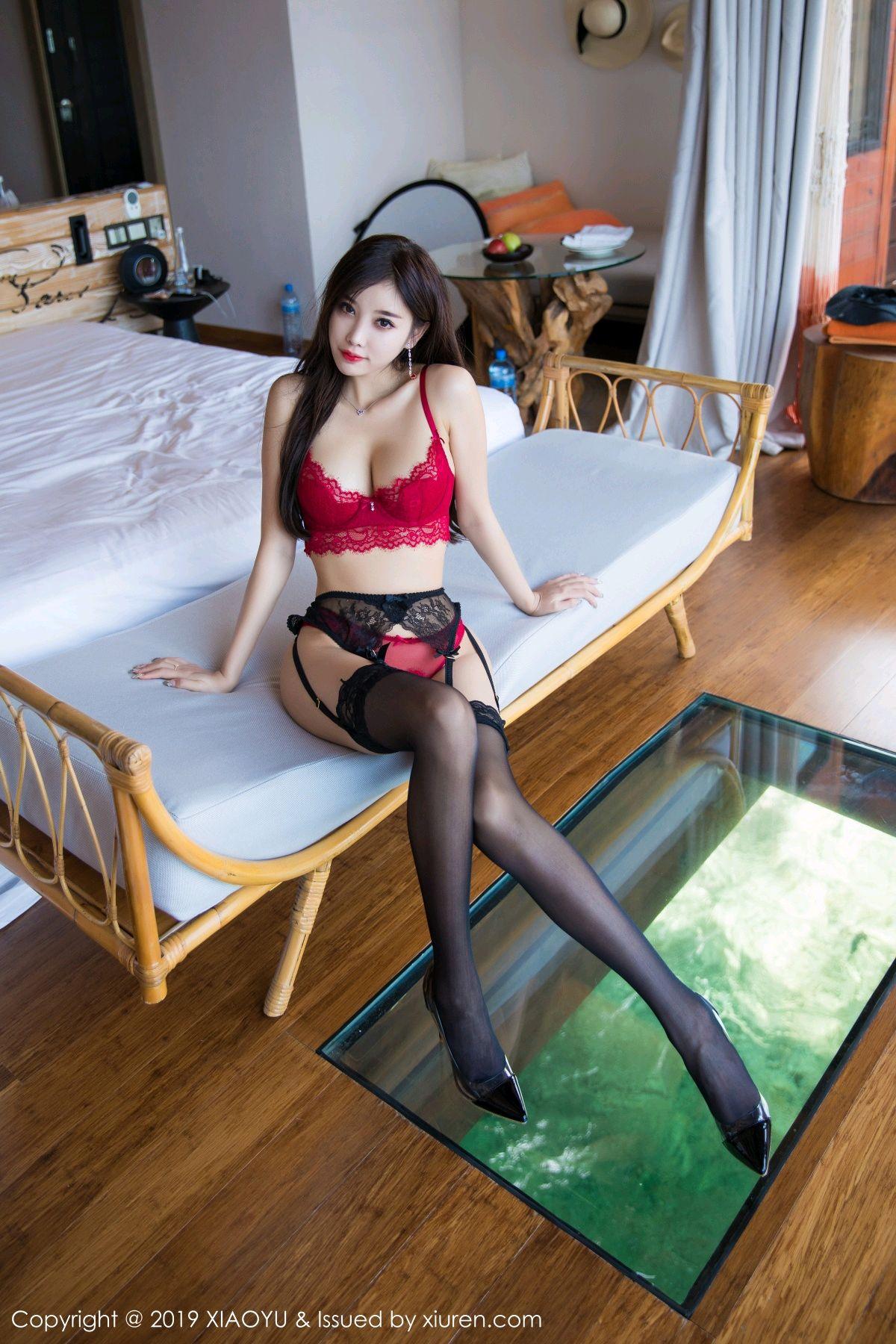 [XiaoYu] Vol.020 Yang Chen Chen 25P, Black Silk, Tall, Underwear, XiaoYu, Yang Chen Chen