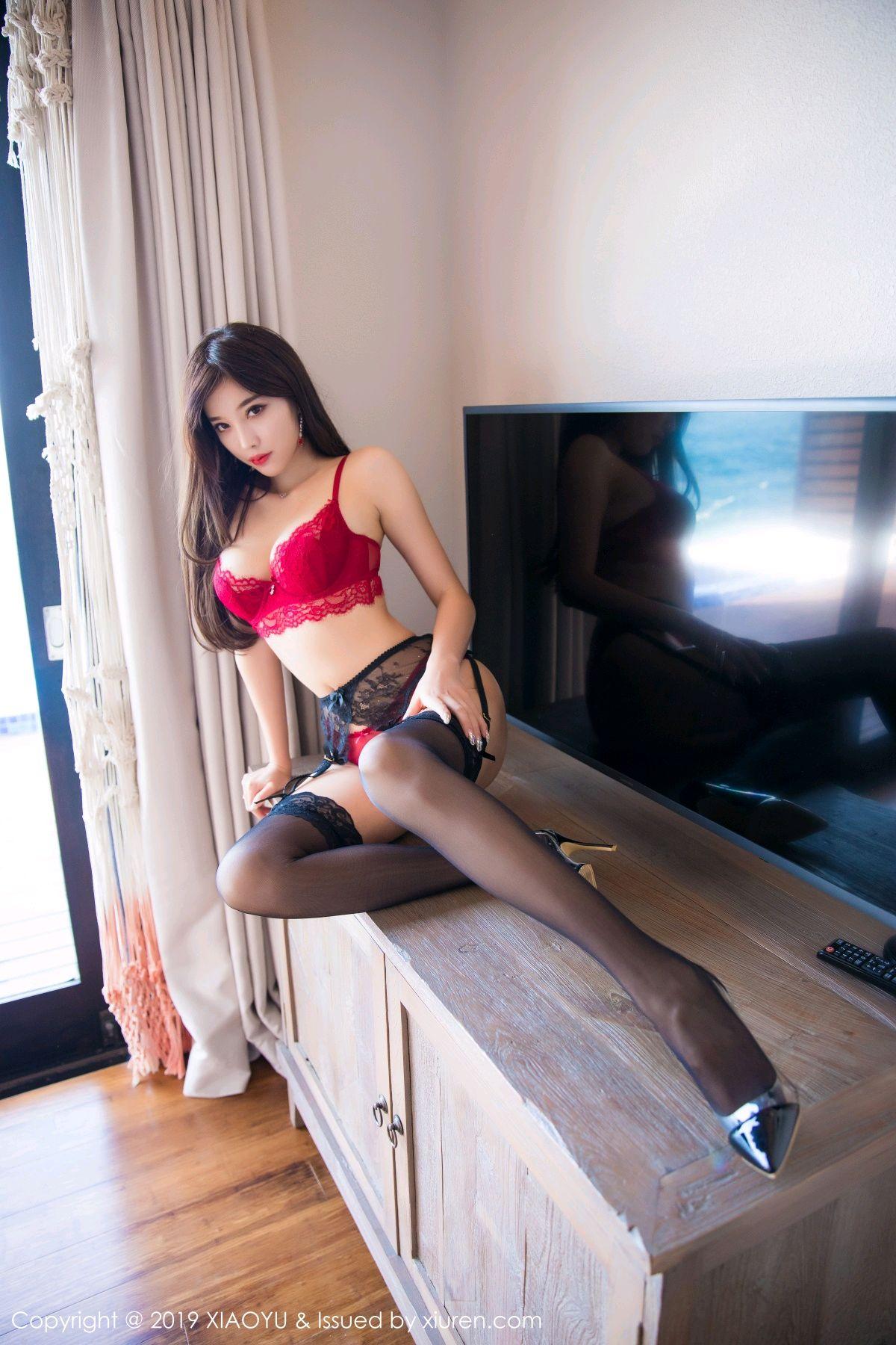 [XiaoYu] Vol.020 Yang Chen Chen 28P, Black Silk, Tall, Underwear, XiaoYu, Yang Chen Chen