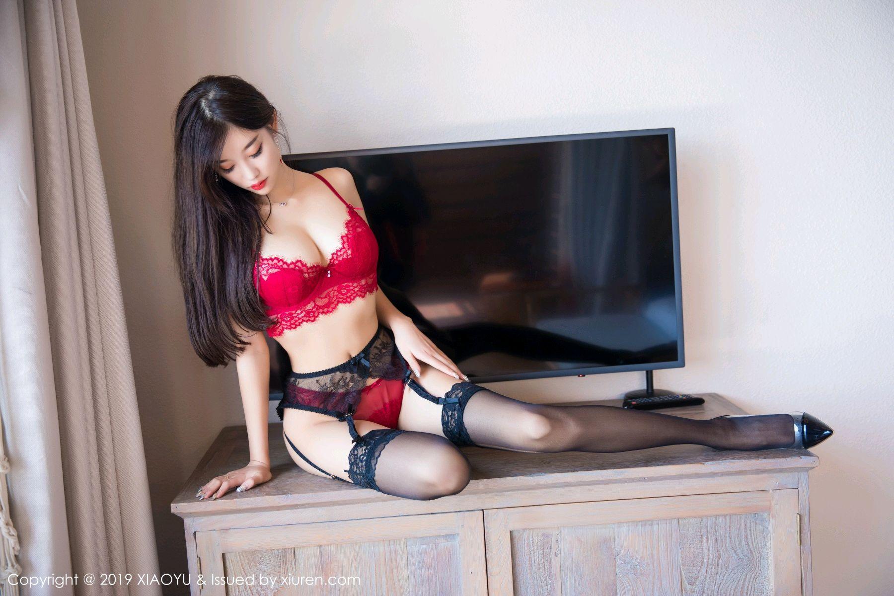[XiaoYu] Vol.020 Yang Chen Chen 29P, Black Silk, Tall, Underwear, XiaoYu, Yang Chen Chen