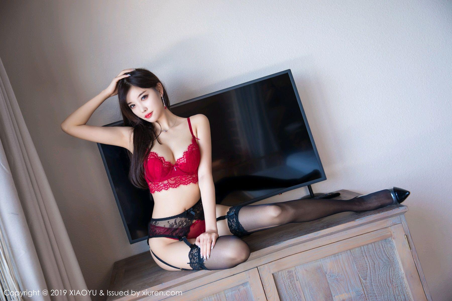 [XiaoYu] Vol.020 Yang Chen Chen 31P, Black Silk, Tall, Underwear, XiaoYu, Yang Chen Chen