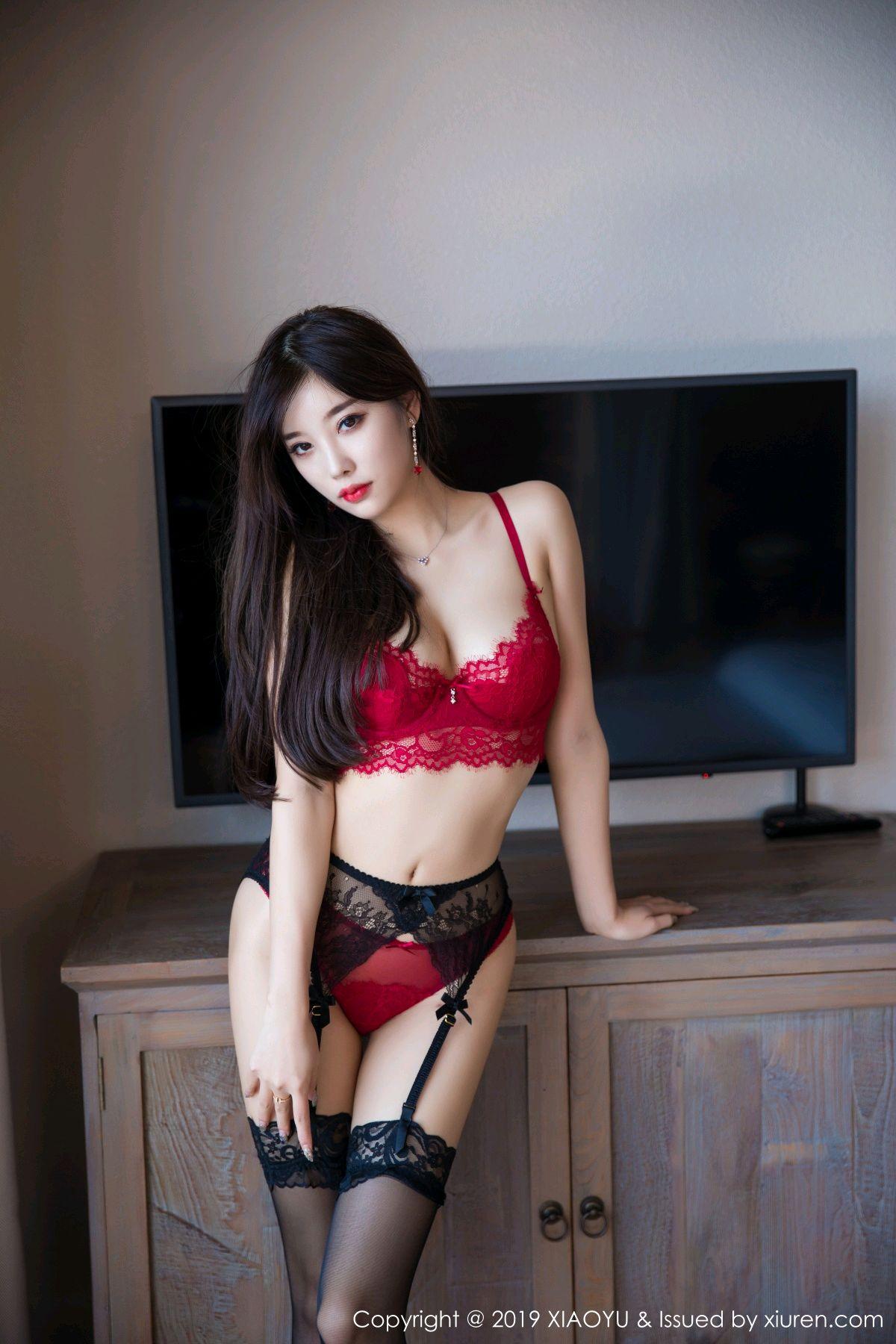 [XiaoYu] Vol.020 Yang Chen Chen 37P, Black Silk, Tall, Underwear, XiaoYu, Yang Chen Chen