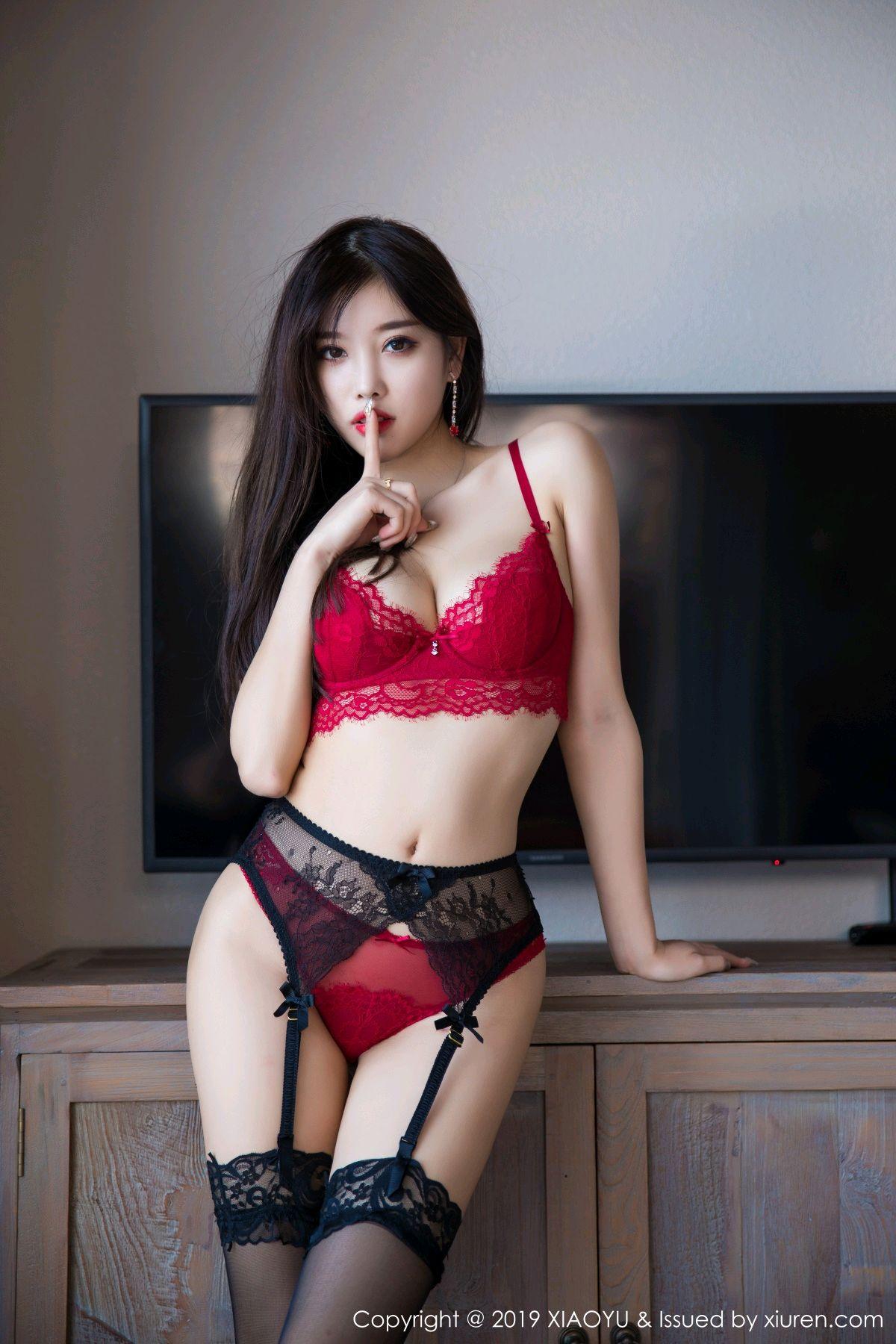 [XiaoYu] Vol.020 Yang Chen Chen 39P, Black Silk, Tall, Underwear, XiaoYu, Yang Chen Chen