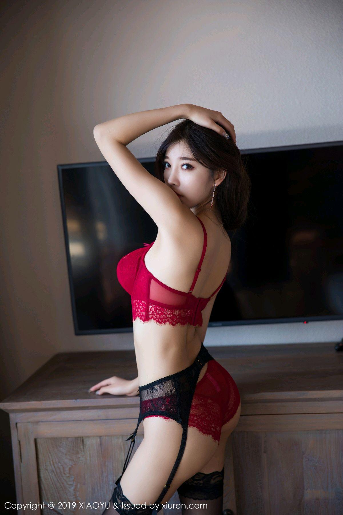 [XiaoYu] Vol.020 Yang Chen Chen 44P, Black Silk, Tall, Underwear, XiaoYu, Yang Chen Chen