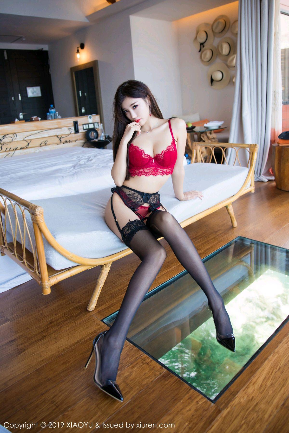 [XiaoYu] Vol.020 Yang Chen Chen 4P, Black Silk, Tall, Underwear, XiaoYu, Yang Chen Chen