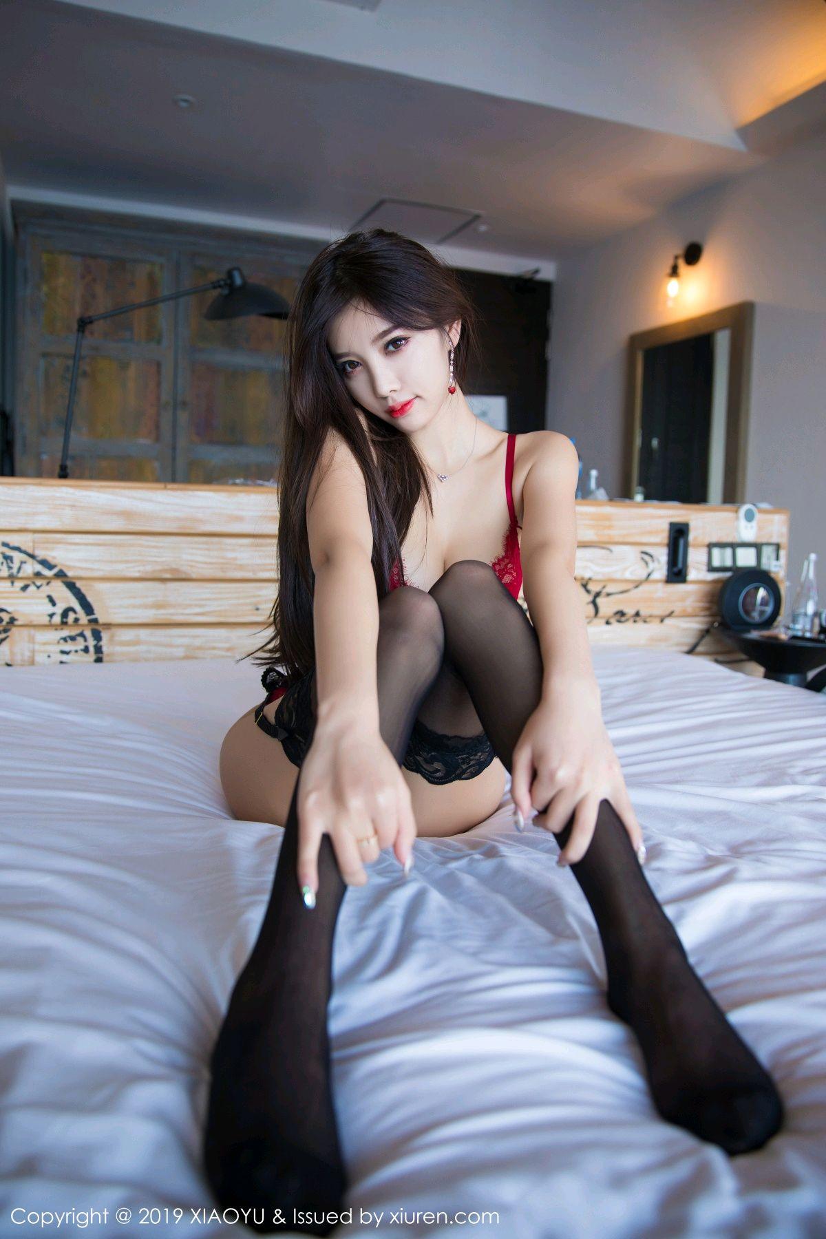 [XiaoYu] Vol.020 Yang Chen Chen 54P, Black Silk, Tall, Underwear, XiaoYu, Yang Chen Chen