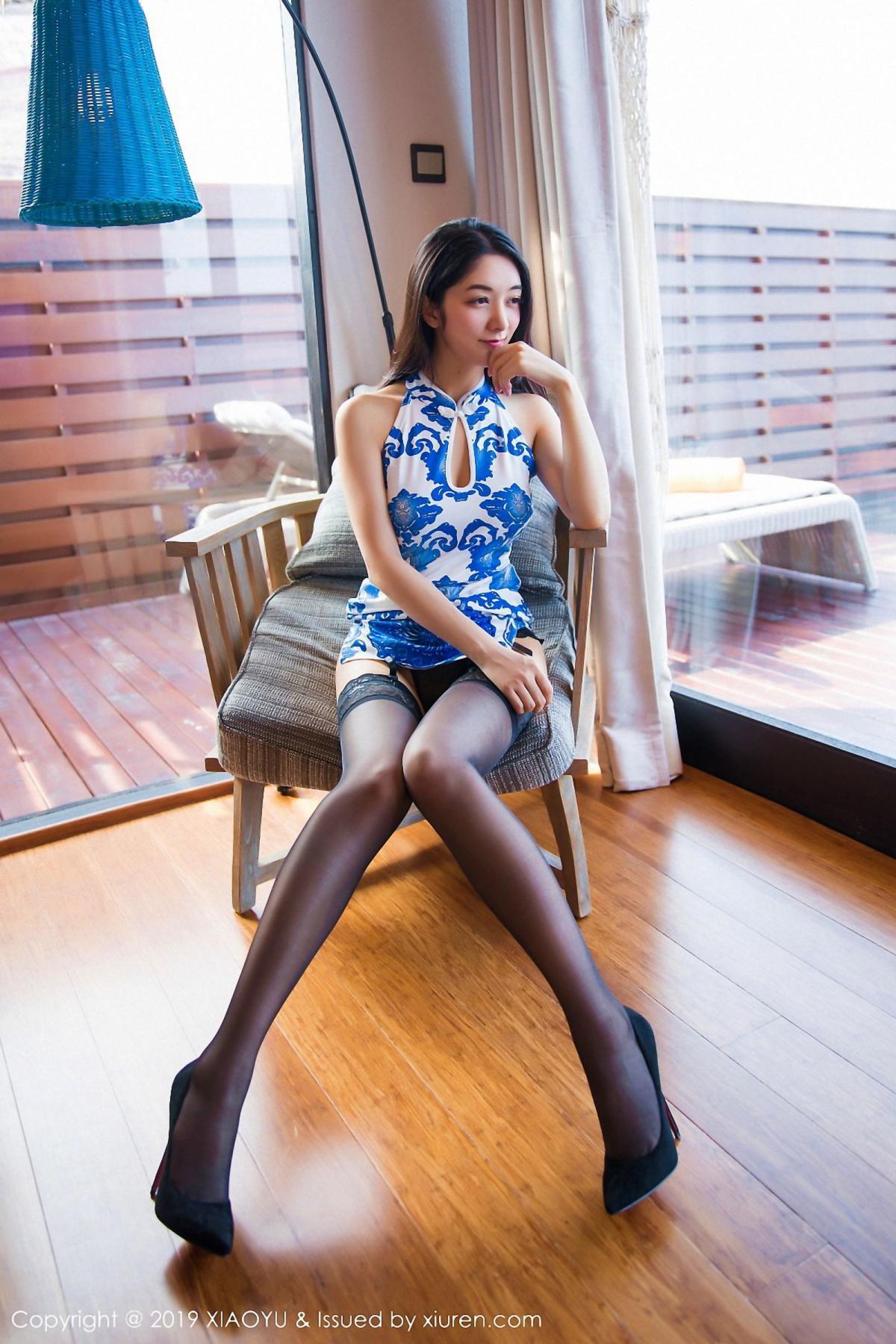[XiaoYu] Vol.026 Di Yi 14P, Black Silk, Cheongsam, Di Yi, Foot, Tall, XiaoYu