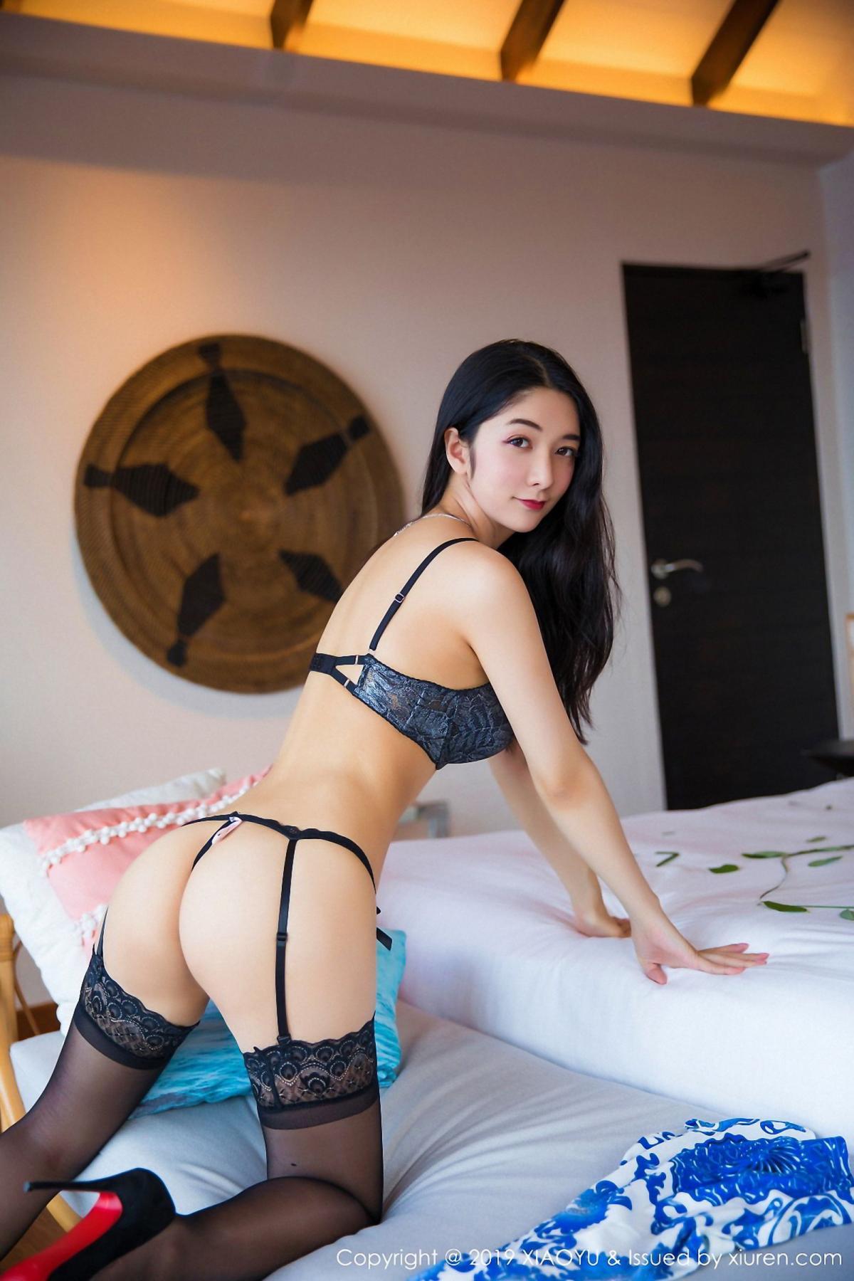[XiaoYu] Vol.026 Di Yi 28P, Black Silk, Cheongsam, Di Yi, Foot, Tall, XiaoYu