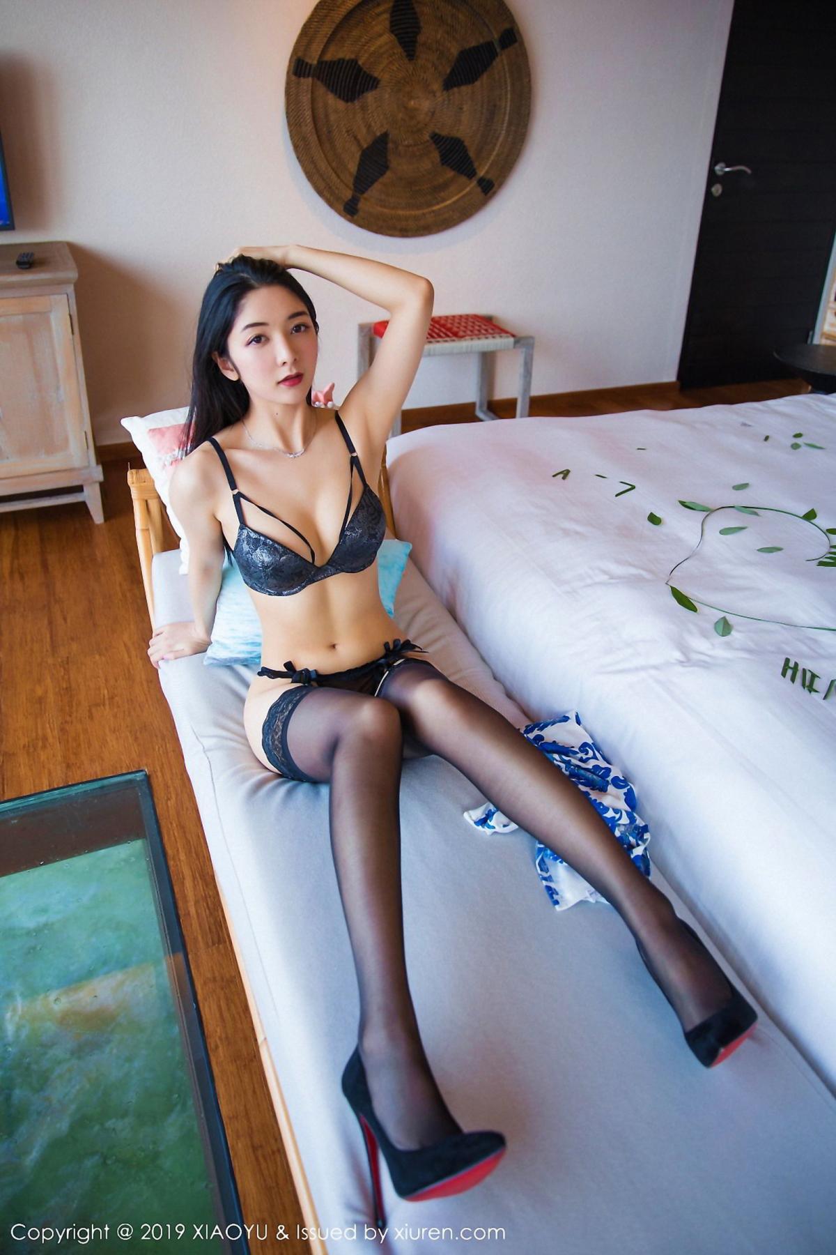 [XiaoYu] Vol.026 Di Yi 30P, Black Silk, Cheongsam, Di Yi, Foot, Tall, XiaoYu