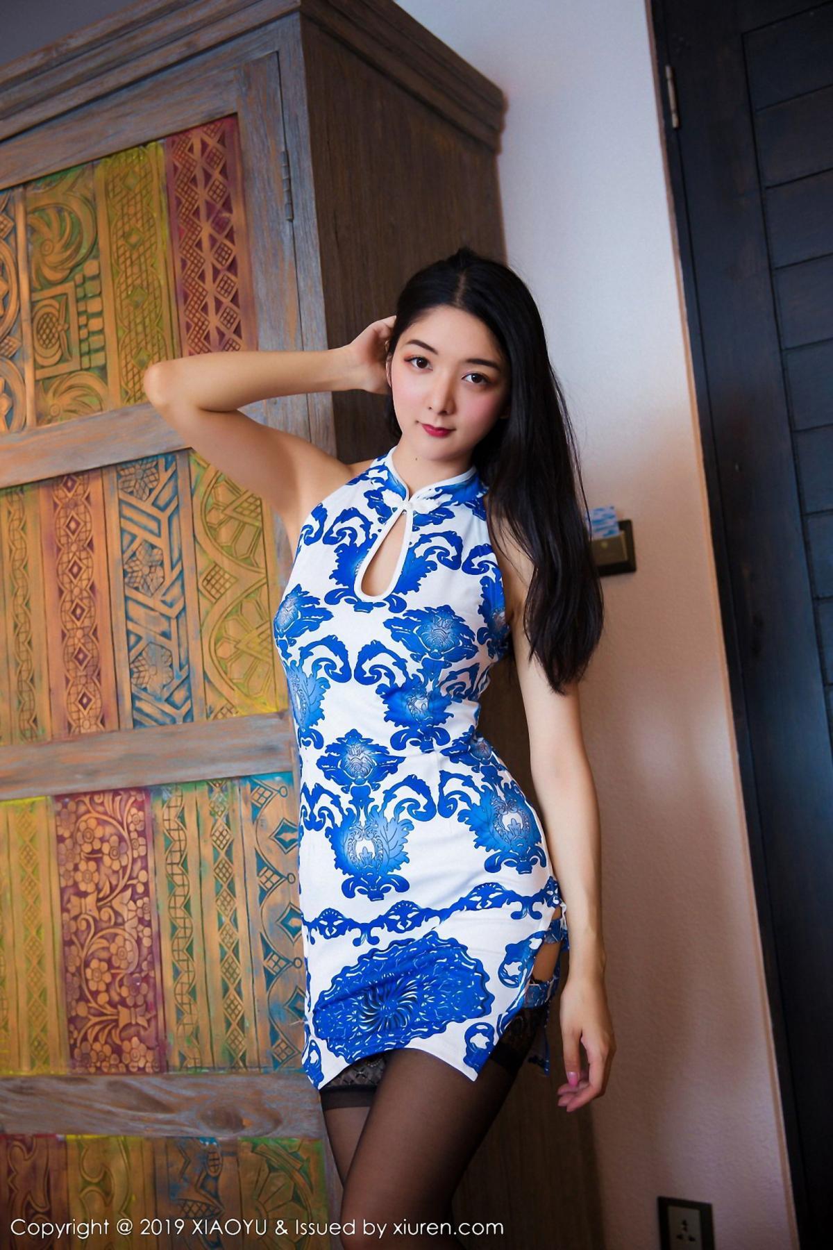 [XiaoYu] Vol.026 Di Yi 6P, Black Silk, Cheongsam, Di Yi, Foot, Tall, XiaoYu