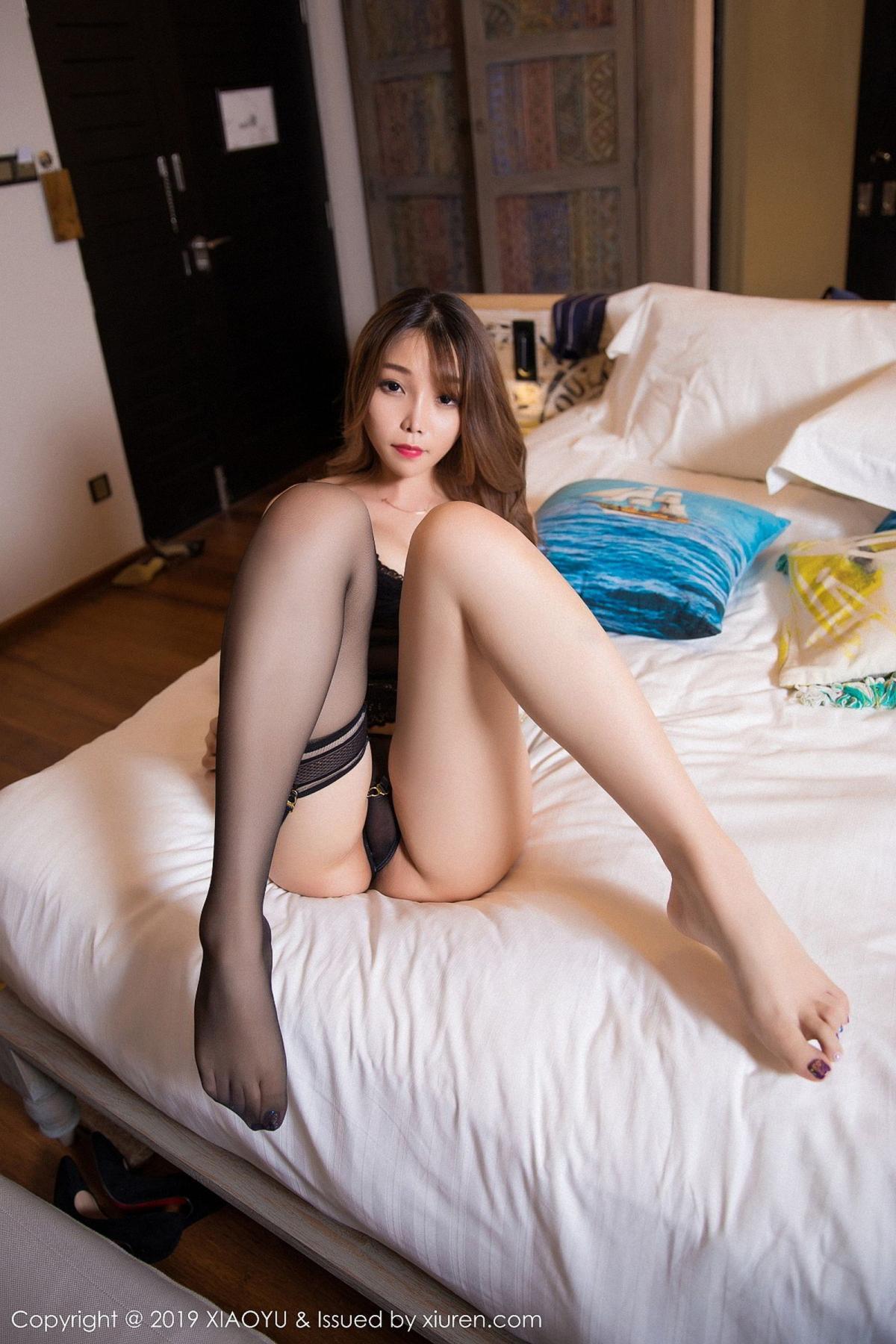 [XiaoYu] Vol.028 Chen Zhi 45P, Black Silk, Chen Zhi, Tall, XiaoYu