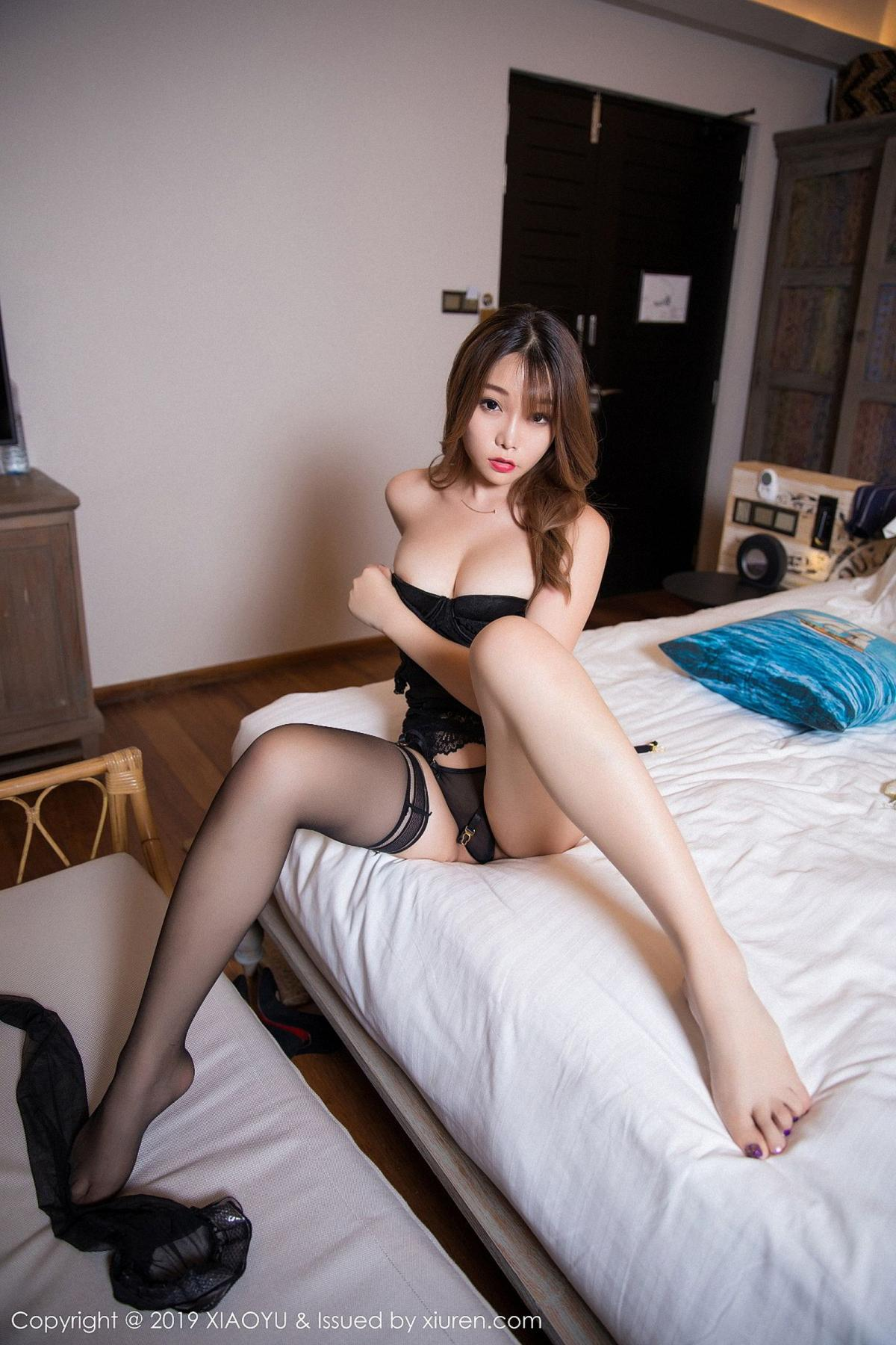 [XiaoYu] Vol.028 Chen Zhi 48P, Black Silk, Chen Zhi, Tall, XiaoYu