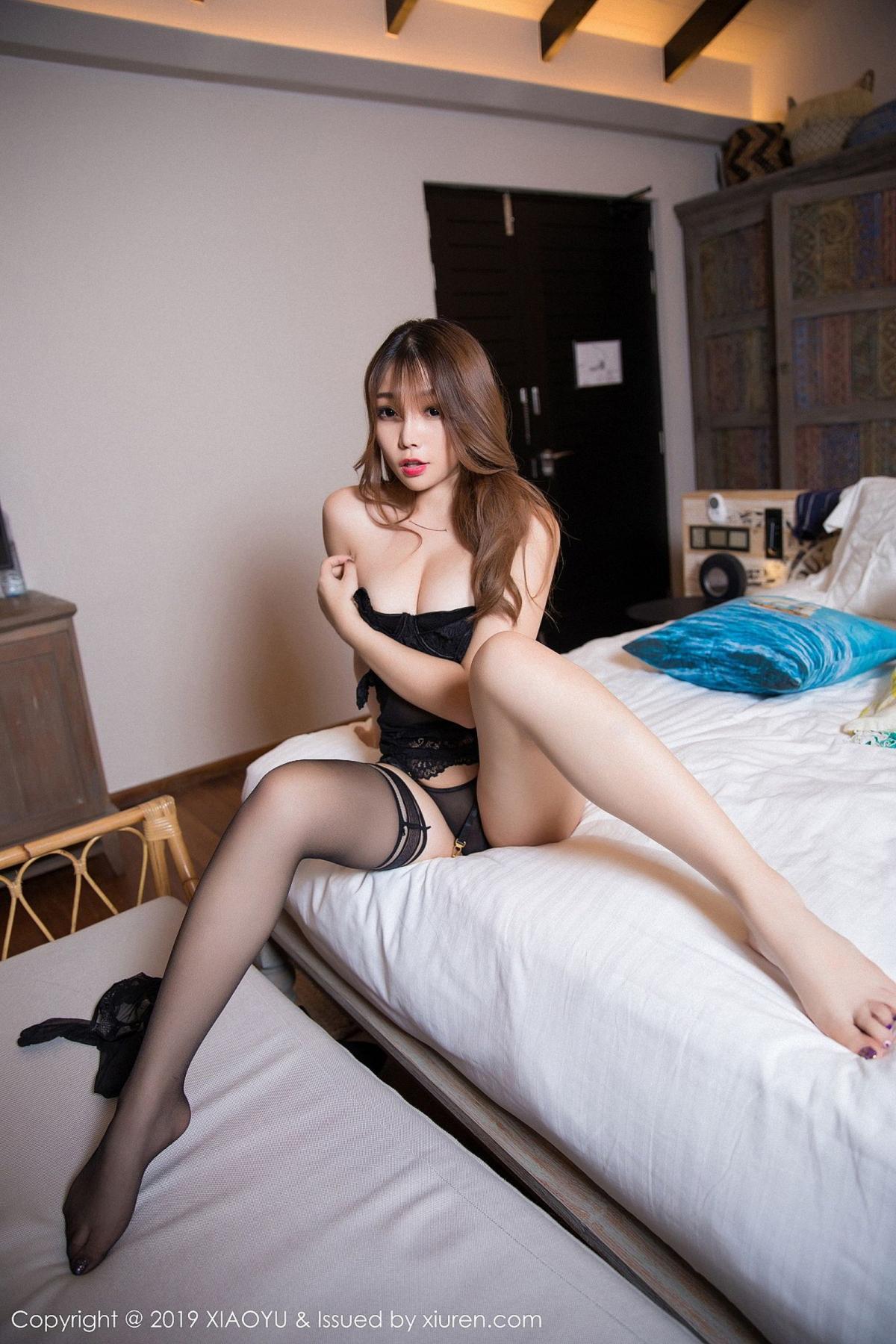 [XiaoYu] Vol.028 Chen Zhi 49P, Black Silk, Chen Zhi, Tall, XiaoYu