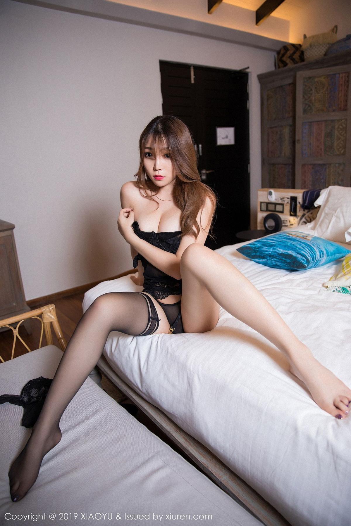 [XiaoYu] Vol.028 Chen Zhi 50P, Black Silk, Chen Zhi, Tall, XiaoYu