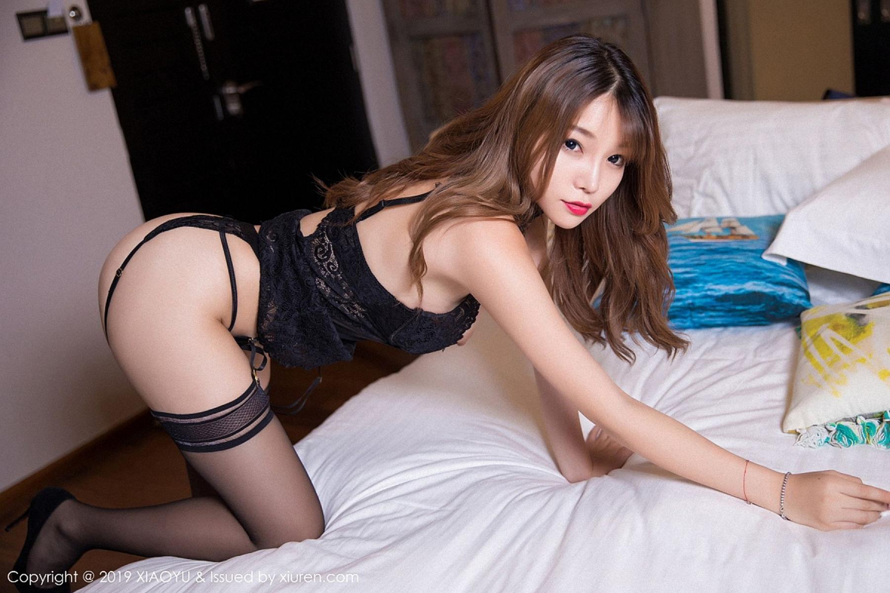 [XiaoYu] Vol.028 Chen Zhi 8P, Black Silk, Chen Zhi, Tall, XiaoYu