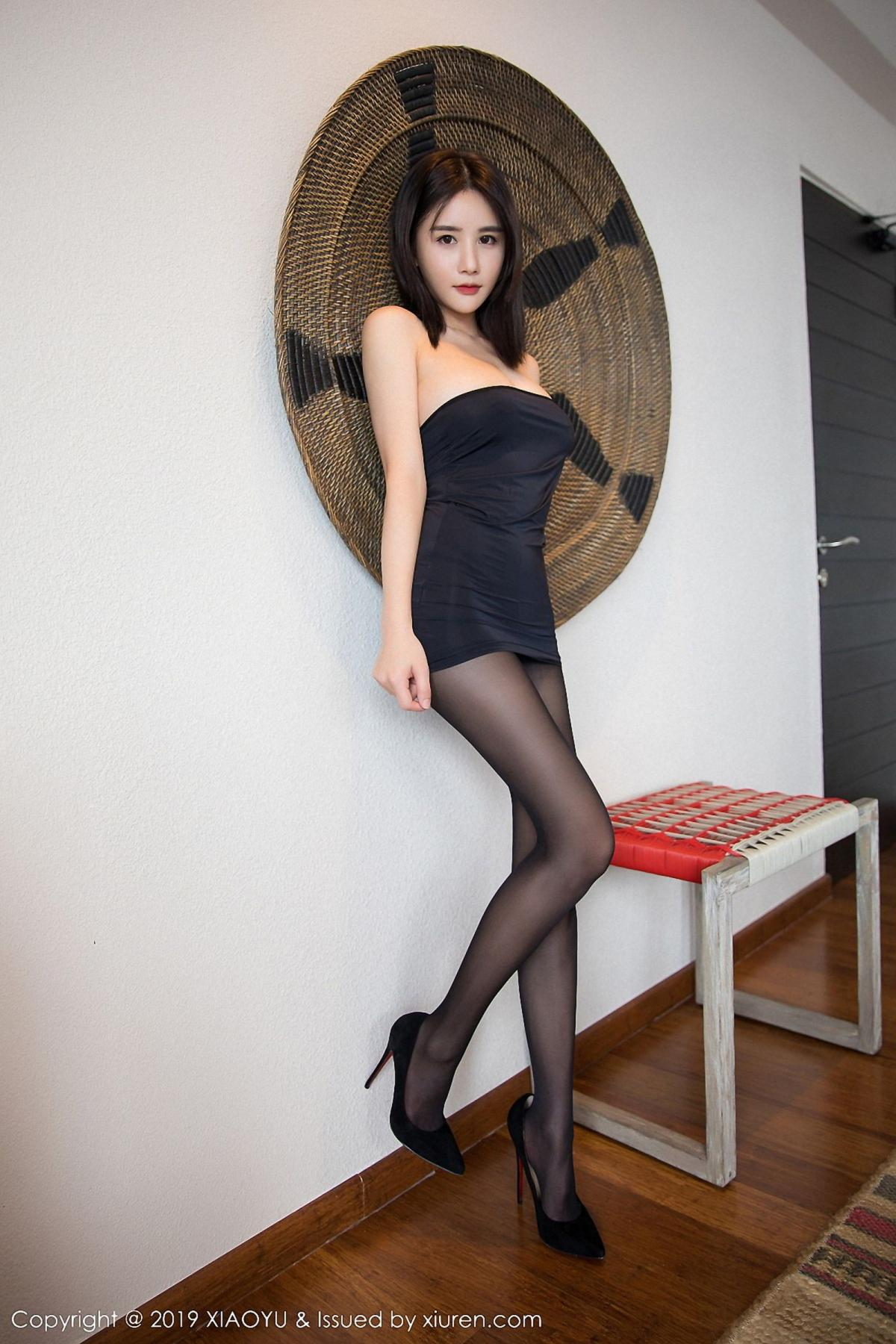 [XiaoYu] Vol.030 Lin Lin Ailin 23P, Black Silk, Lin Lin Ailin, Tall, XiaoYu