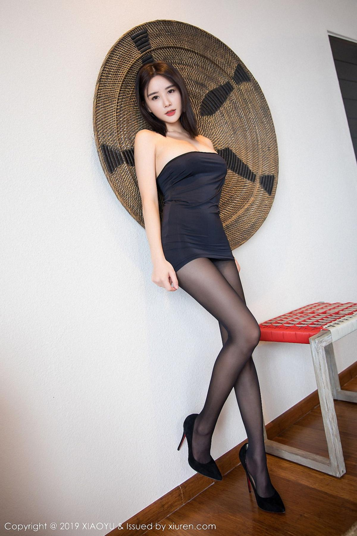 [XiaoYu] Vol.030 Lin Lin Ailin 5P, Black Silk, Lin Lin Ailin, Tall, XiaoYu