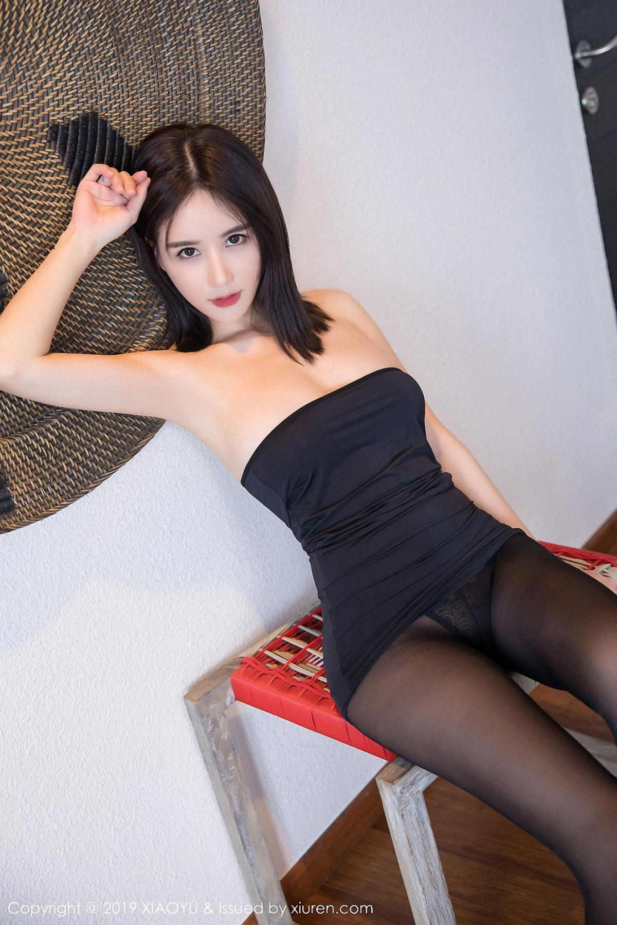 [XiaoYu] Vol.030 Lin Lin Ailin 8P, Black Silk, Lin Lin Ailin, Tall, XiaoYu