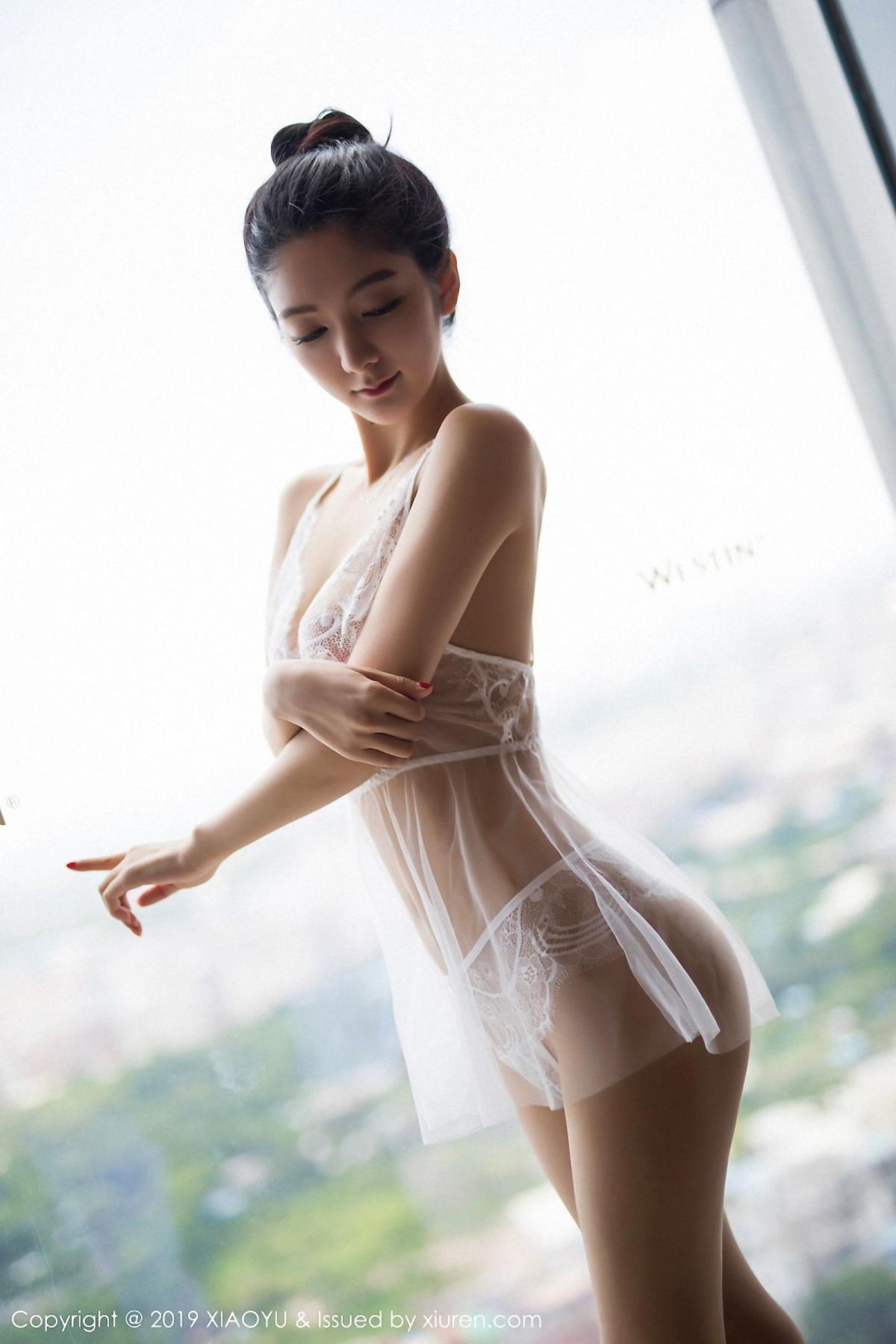 [XiaoYu] Vol.034 Di Yi 20P, Black Silk, Cheongsam, Di Yi, Tall, XiaoYu