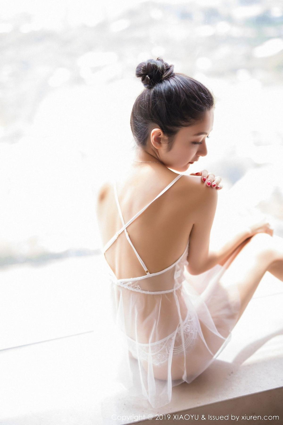 [XiaoYu] Vol.034 Di Yi 36P, Black Silk, Cheongsam, Di Yi, Tall, XiaoYu