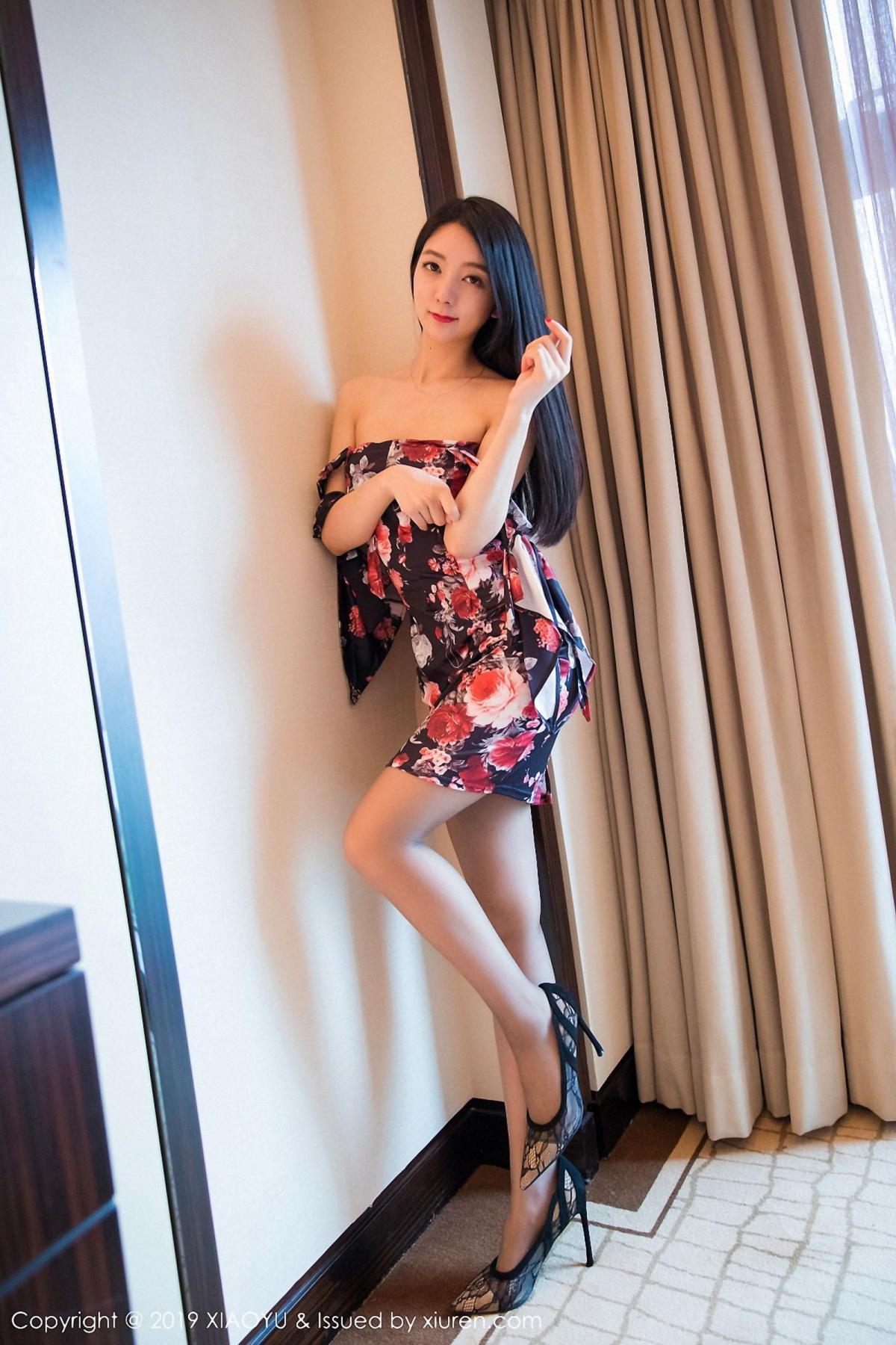 [XiaoYu] Vol.034 Di Yi 38P, Black Silk, Cheongsam, Di Yi, Tall, XiaoYu
