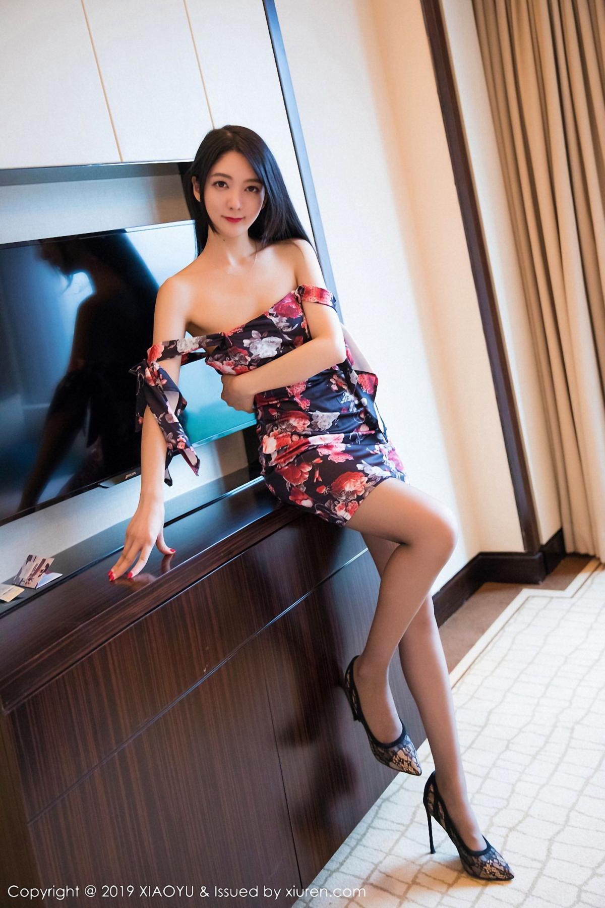 [XiaoYu] Vol.034 Di Yi 42P, Black Silk, Cheongsam, Di Yi, Tall, XiaoYu