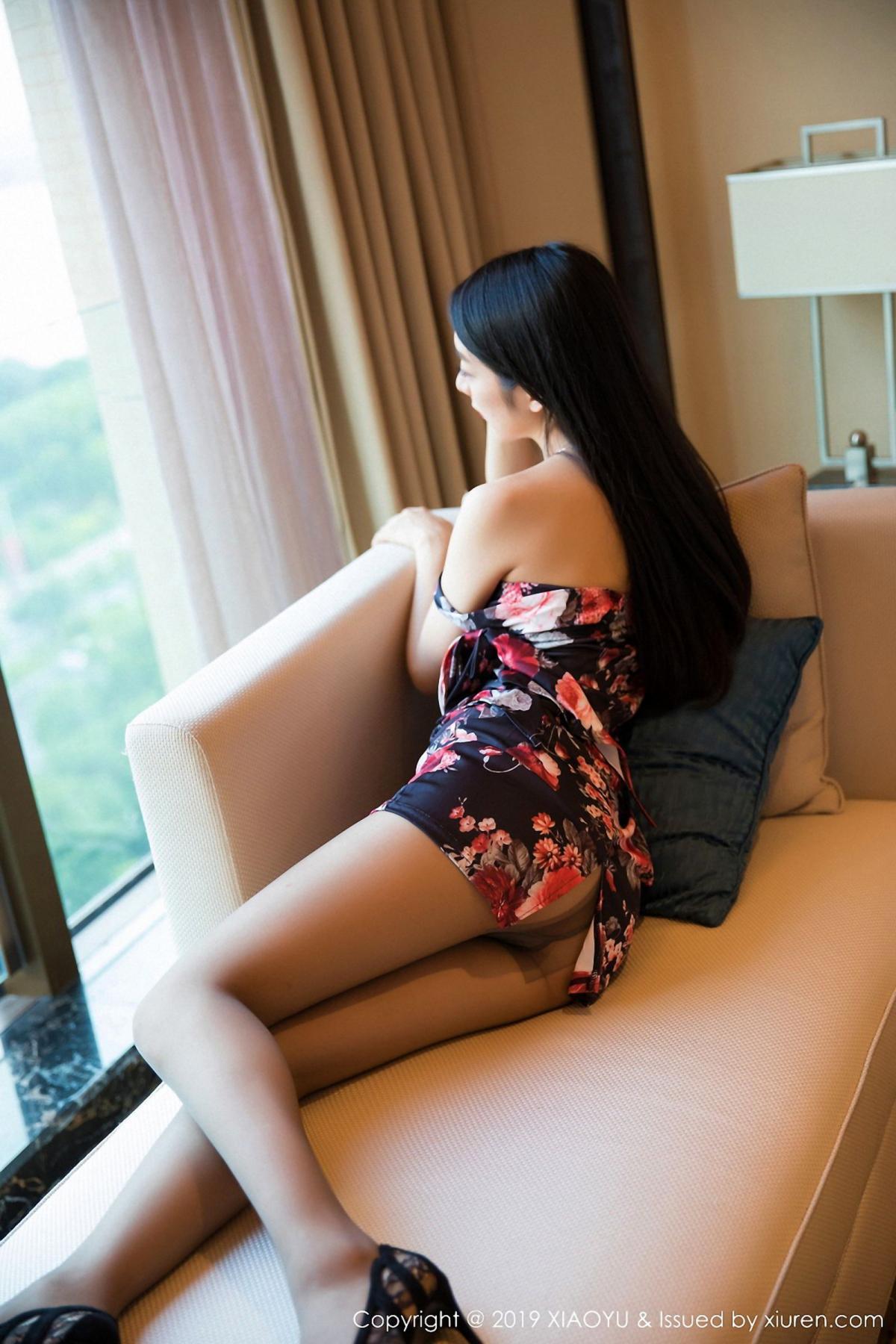 [XiaoYu] Vol.034 Di Yi 48P, Black Silk, Cheongsam, Di Yi, Tall, XiaoYu