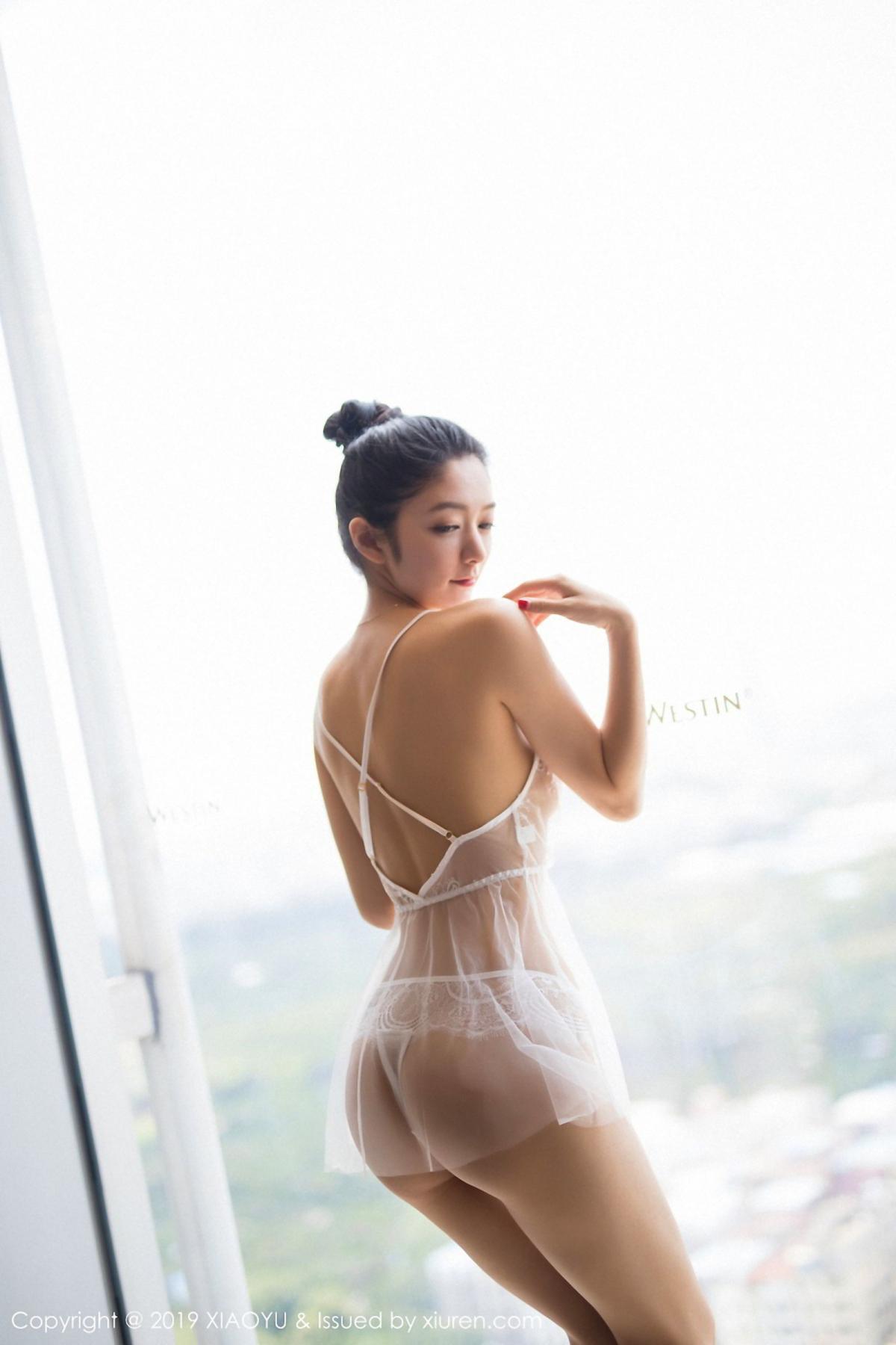 [XiaoYu] Vol.034 Di Yi 9P, Black Silk, Cheongsam, Di Yi, Tall, XiaoYu