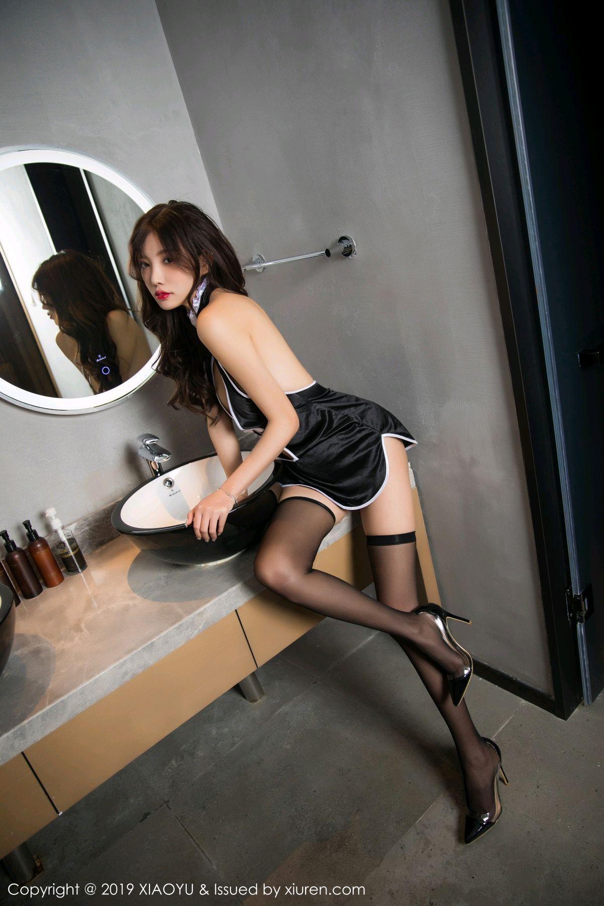 [XiaoYu] Vol.040 Yang Chen Chen 20P, Big Booty, Black Silk, Cheongsam, Tall, XiaoYu, Yang Chen Chen