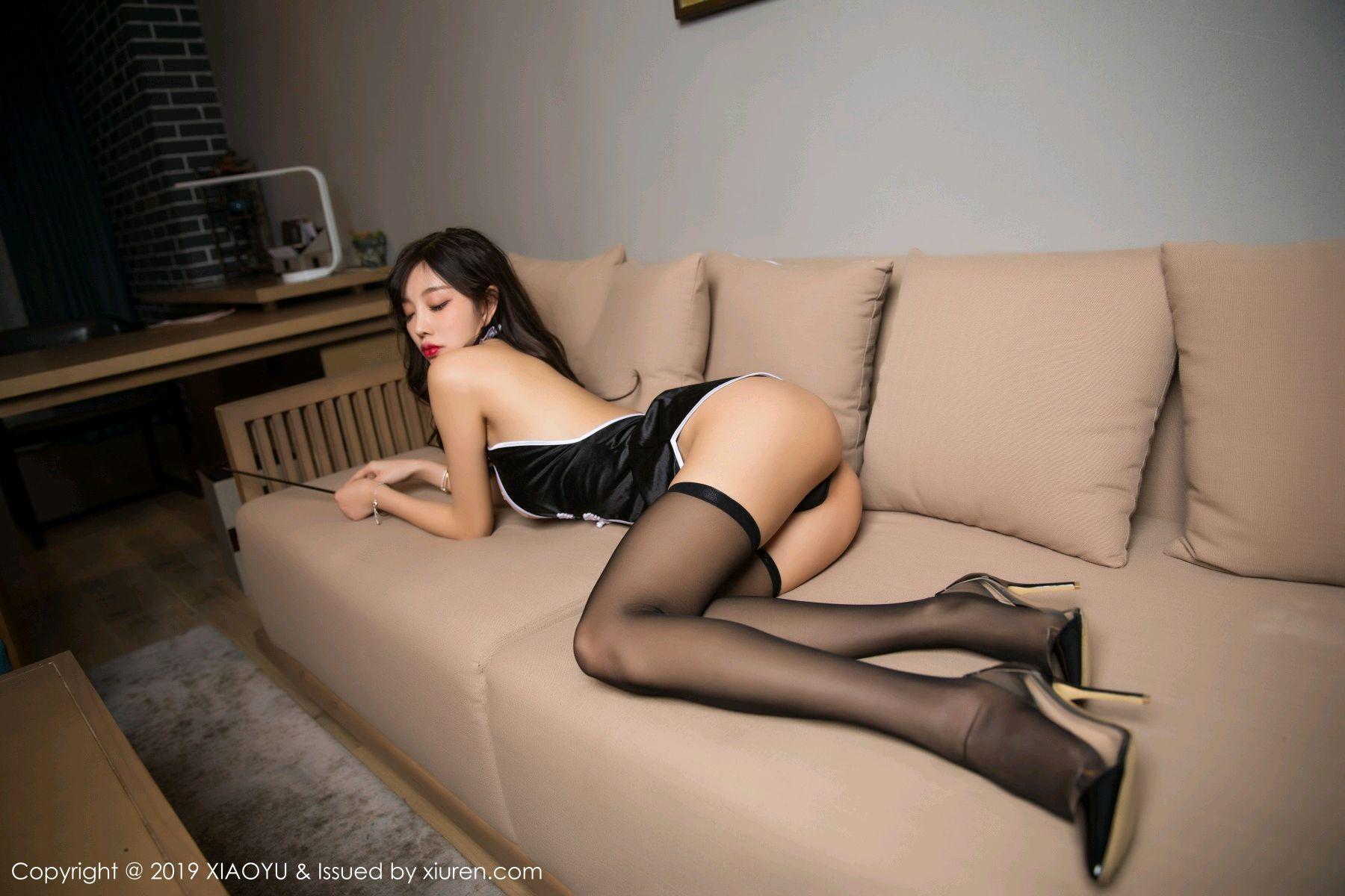 [XiaoYu] Vol.040 Yang Chen Chen 42P, Big Booty, Black Silk, Cheongsam, Tall, XiaoYu, Yang Chen Chen