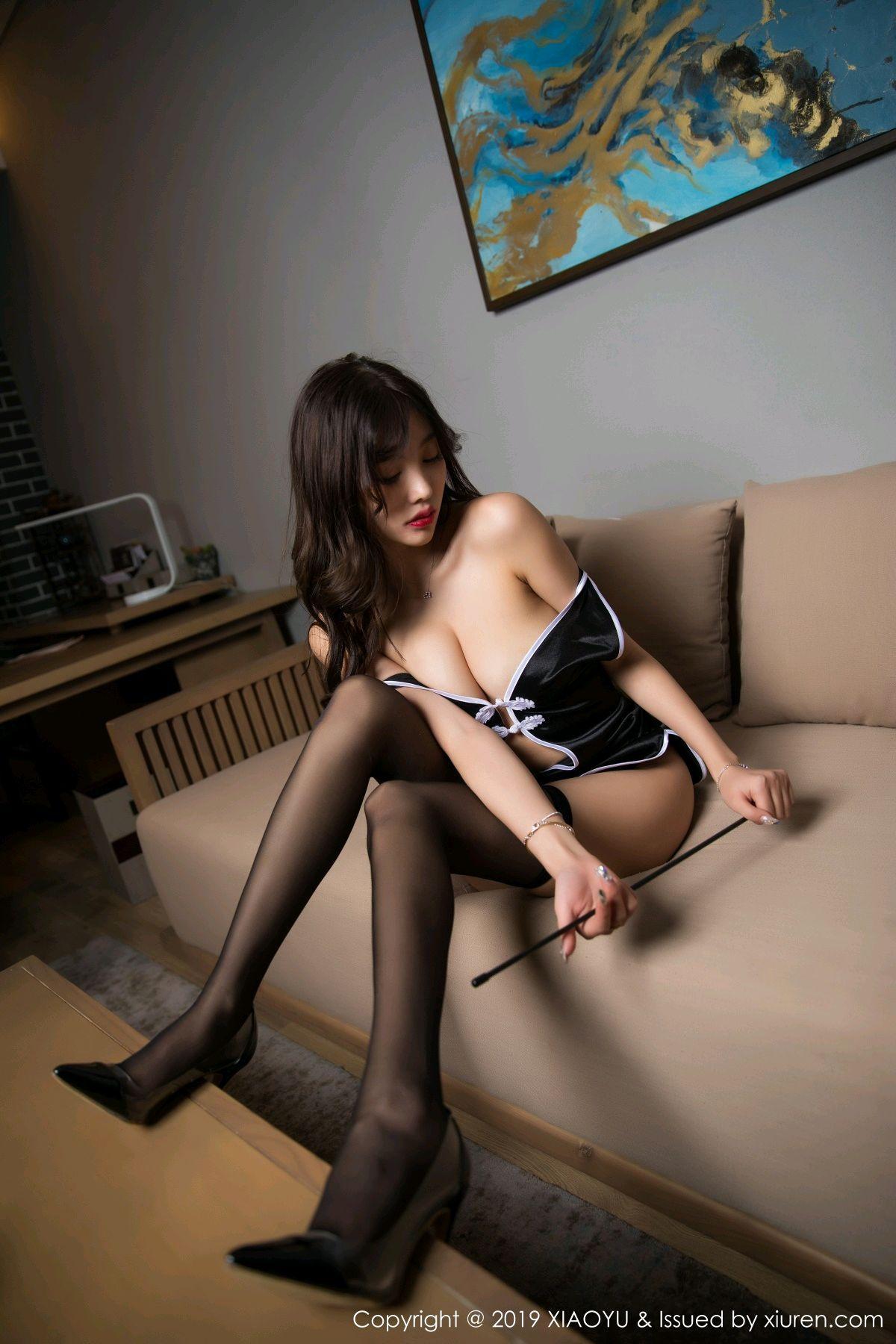 [XiaoYu] Vol.040 Yang Chen Chen 55P, Big Booty, Black Silk, Cheongsam, Tall, XiaoYu, Yang Chen Chen
