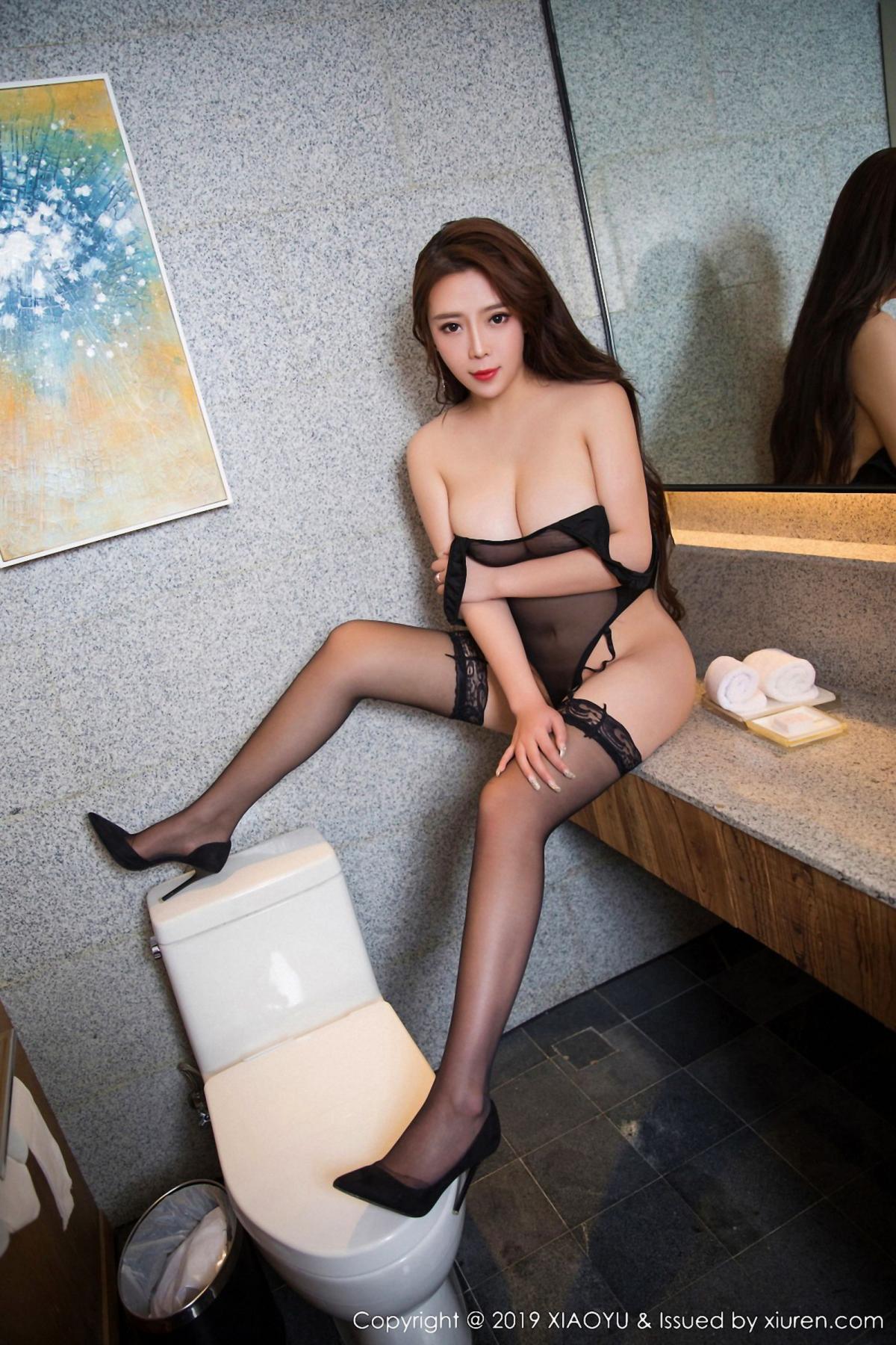 [XiaoYu] Vol.044 Miki Tu 10P, Black Silk, Miki Tu, Underwear, XiaoYu