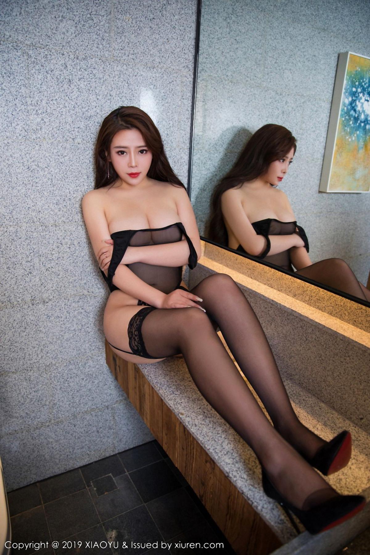 [XiaoYu] Vol.044 Miki Tu 11P, Black Silk, Miki Tu, Underwear, XiaoYu