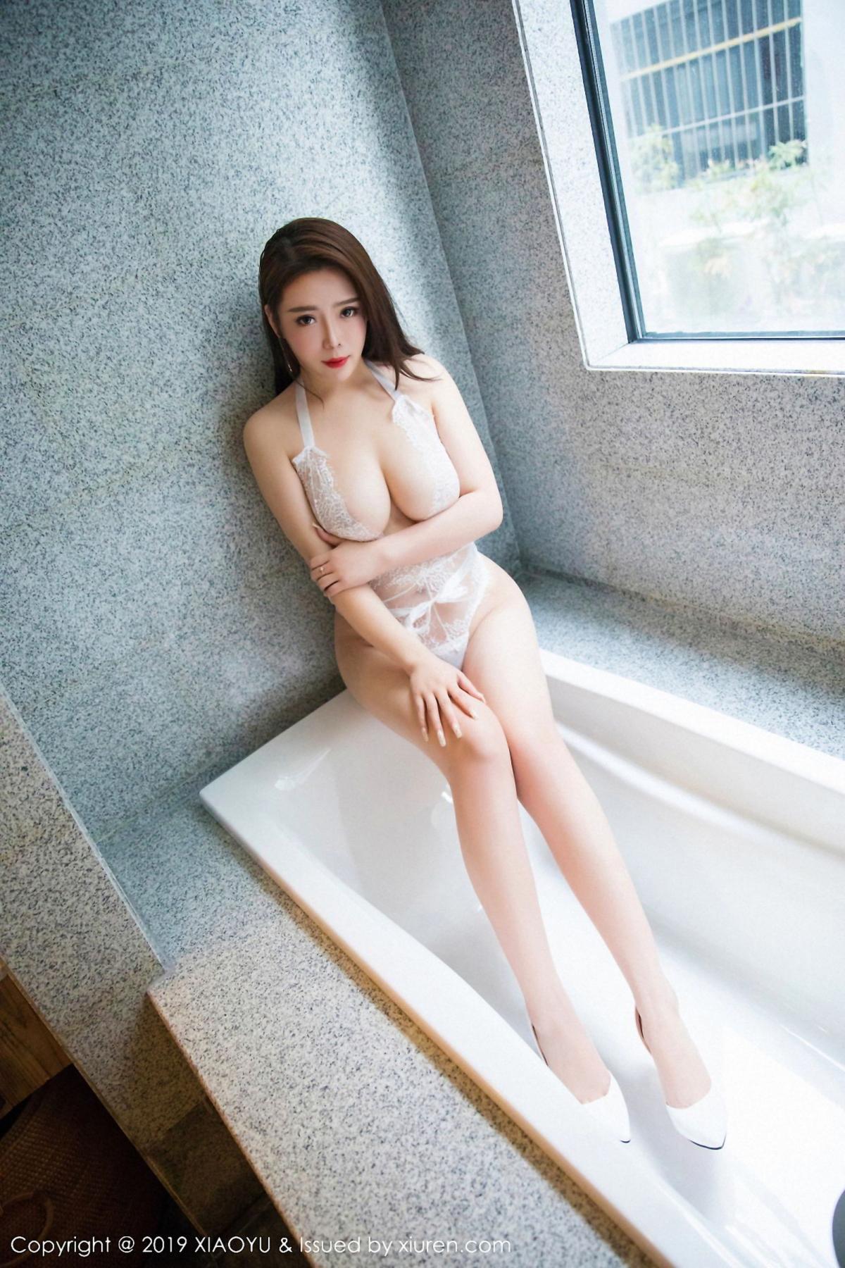 [XiaoYu] Vol.044 Miki Tu 17P, Black Silk, Miki Tu, Underwear, XiaoYu