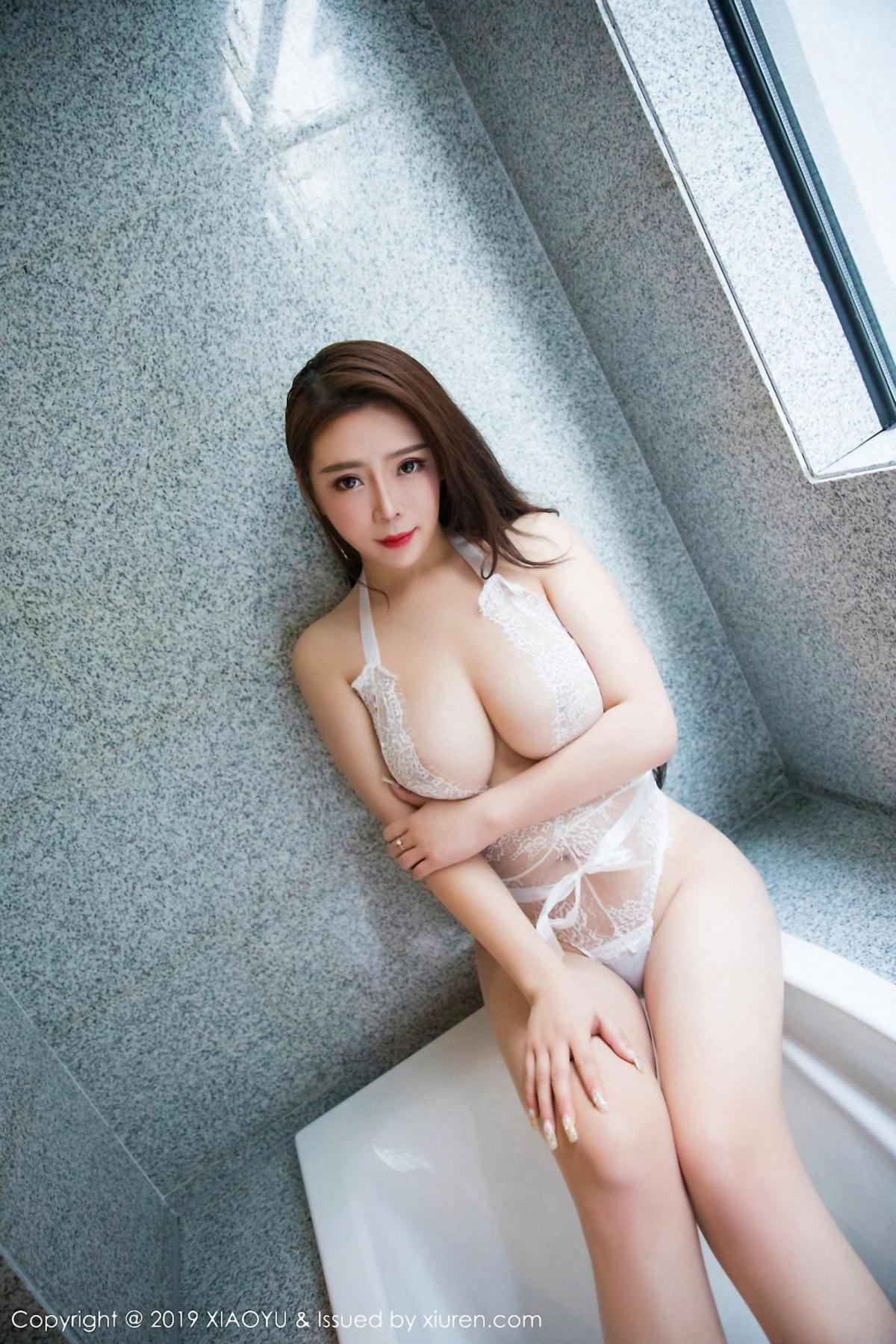 [XiaoYu] Vol.044 Miki Tu 19P, Black Silk, Miki Tu, Underwear, XiaoYu