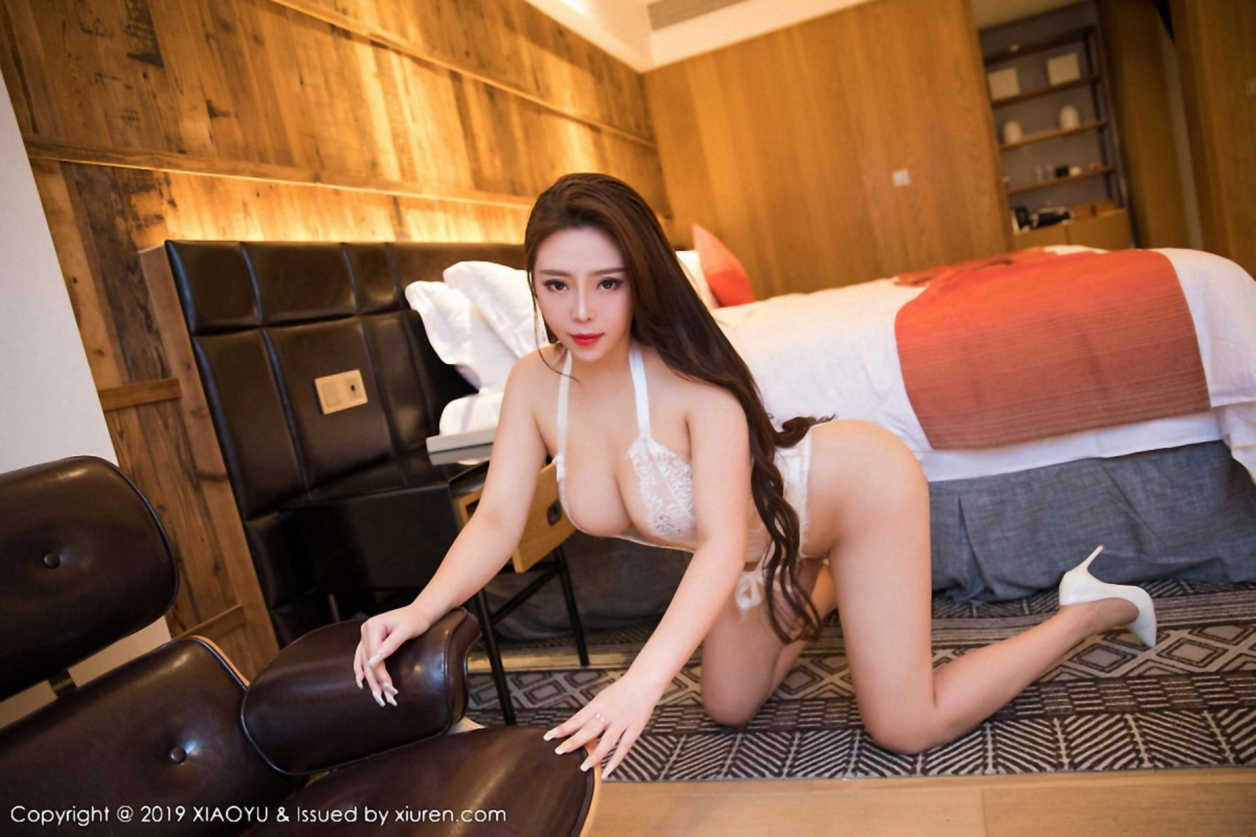 [XiaoYu] Vol.044 Miki Tu 31P, Black Silk, Miki Tu, Underwear, XiaoYu