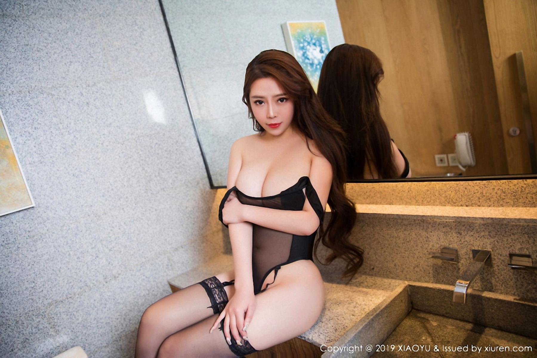 [XiaoYu] Vol.044 Miki Tu 5P, Black Silk, Miki Tu, Underwear, XiaoYu