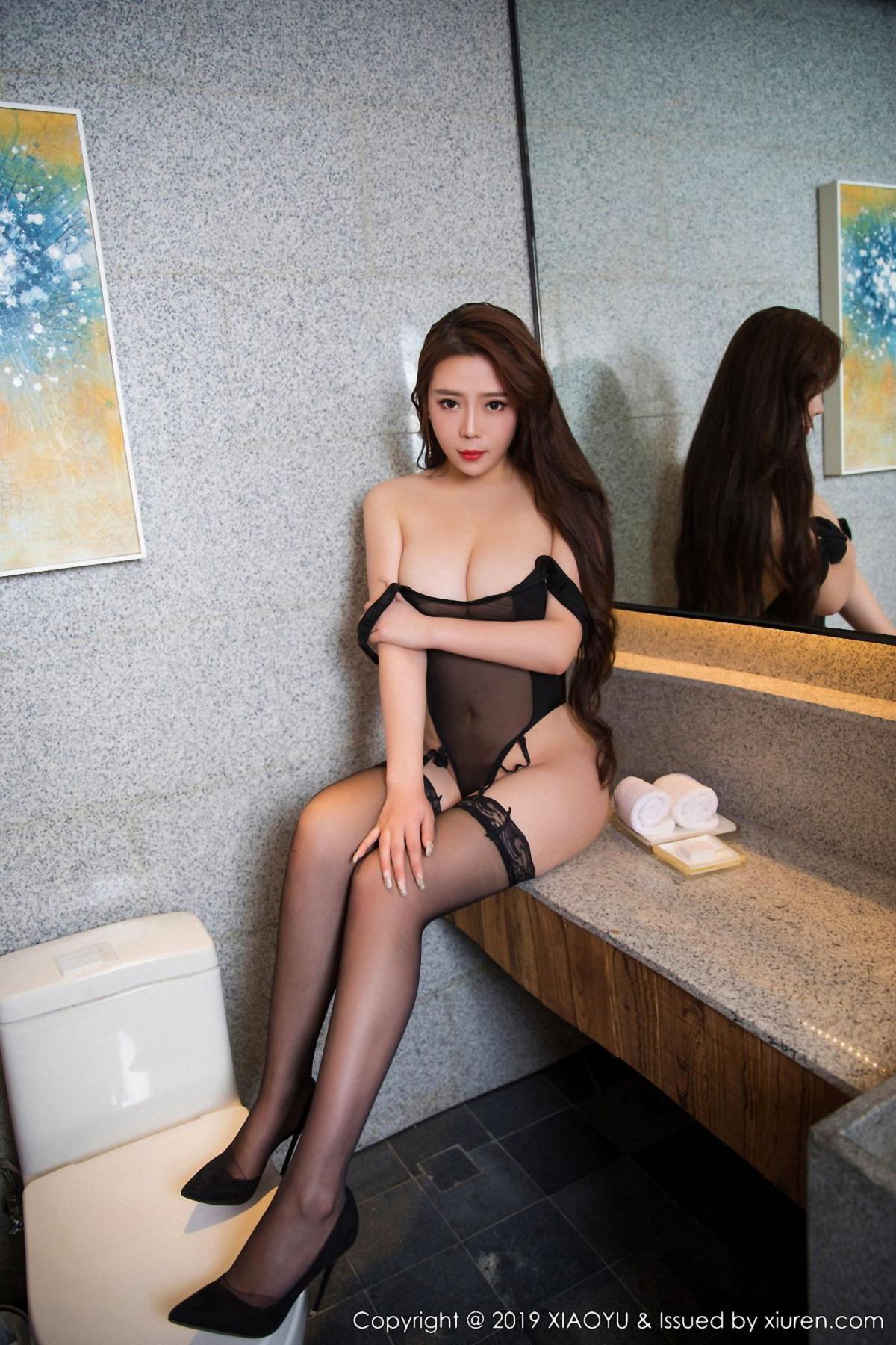 [XiaoYu] Vol.044 Miki Tu 7P, Black Silk, Miki Tu, Underwear, XiaoYu