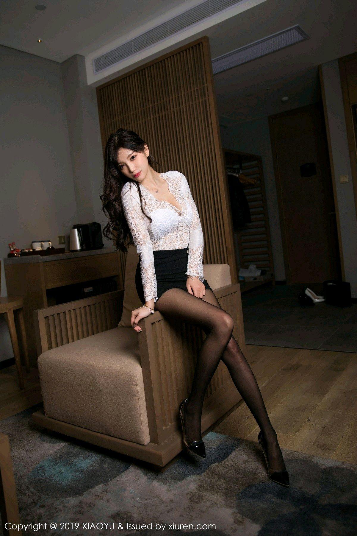 [XiaoYu] Vol.048 Yang Chen Chen 1P, Black Silk, Tall, XiaoYu, Yang Chen Chen