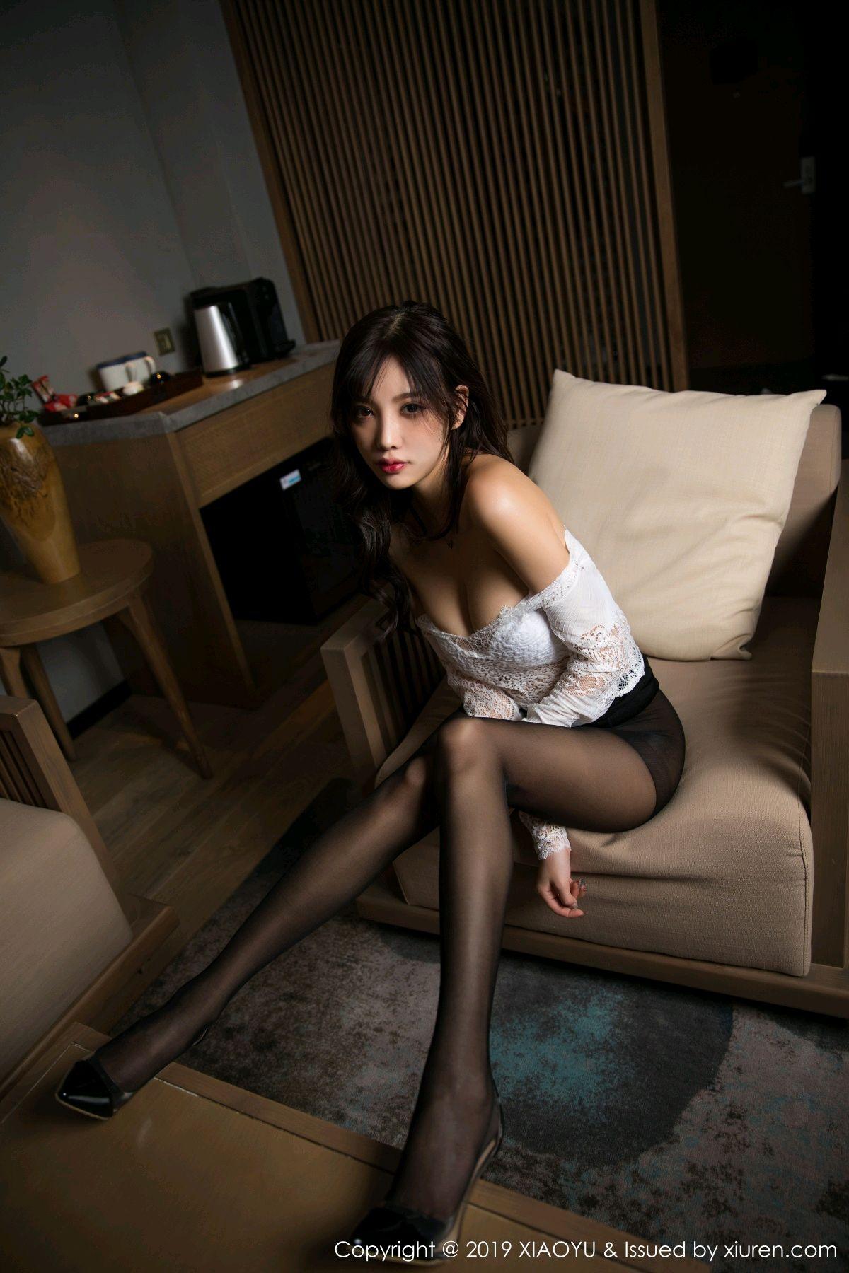 [XiaoYu] Vol.048 Yang Chen Chen 29P, Black Silk, Tall, XiaoYu, Yang Chen Chen