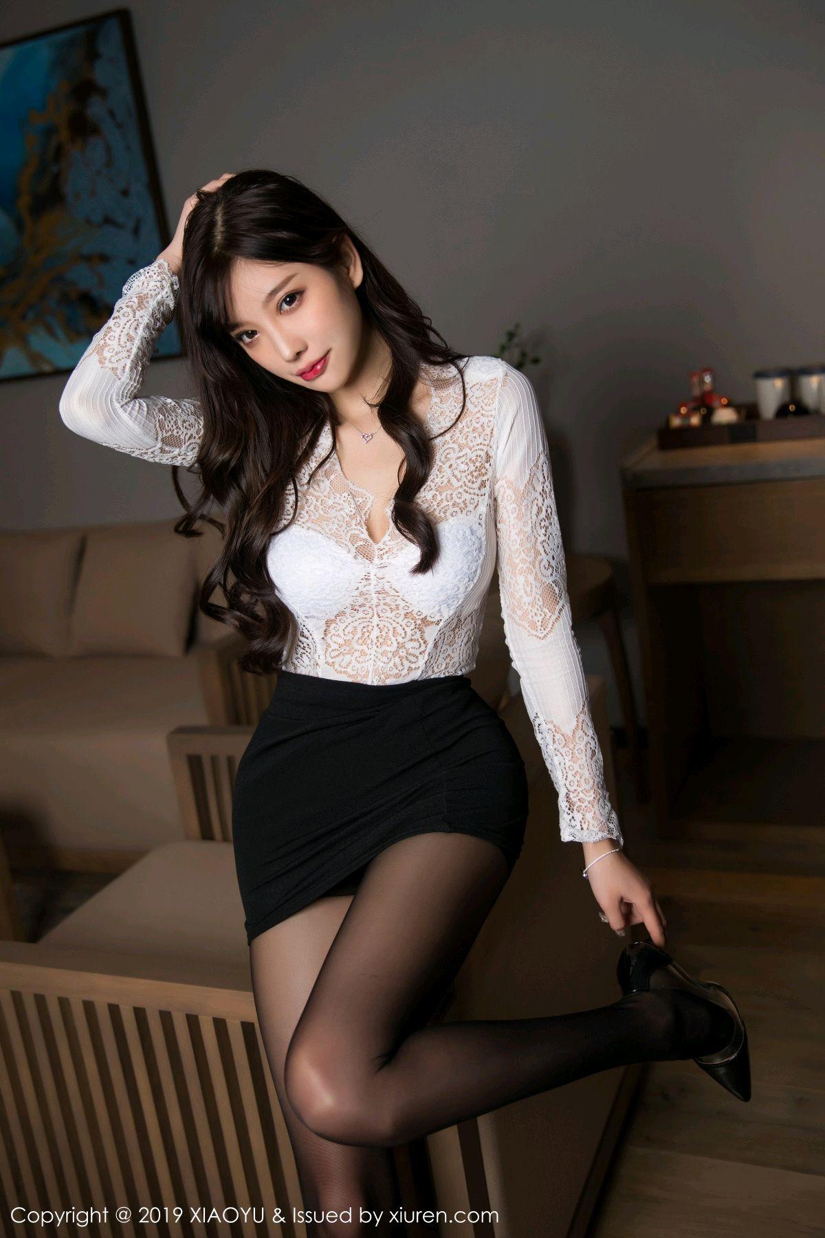 [XiaoYu] Vol.048 Yang Chen Chen 2P, Black Silk, Tall, XiaoYu, Yang Chen Chen