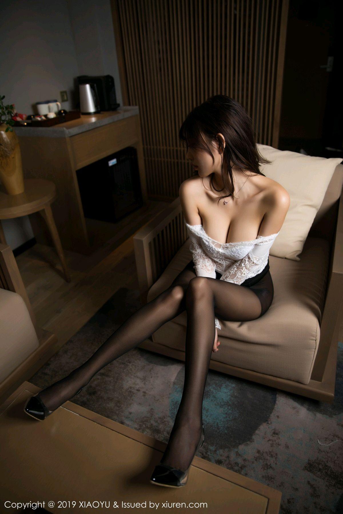 [XiaoYu] Vol.048 Yang Chen Chen 30P, Black Silk, Tall, XiaoYu, Yang Chen Chen