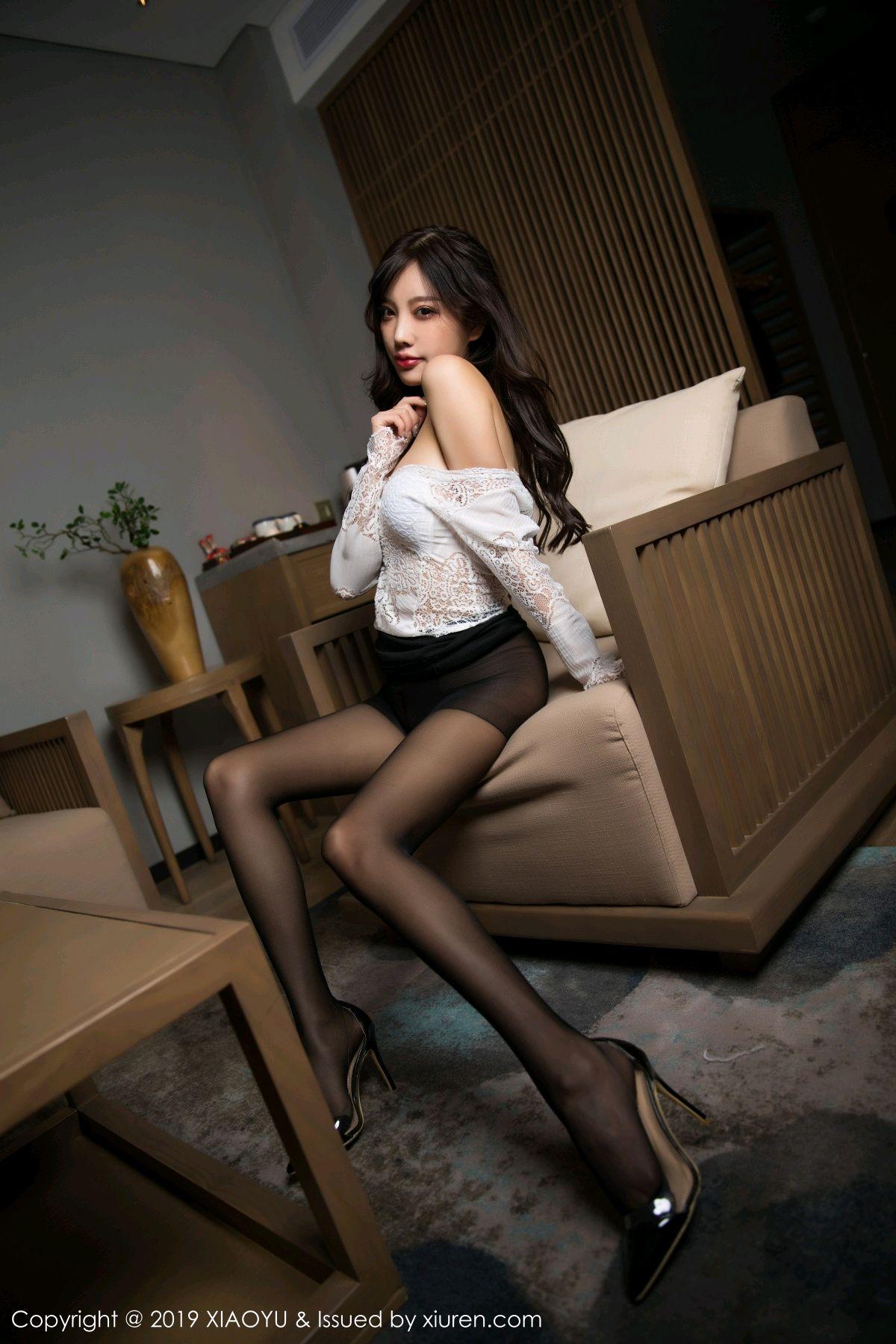 [XiaoYu] Vol.048 Yang Chen Chen 33P, Black Silk, Tall, XiaoYu, Yang Chen Chen