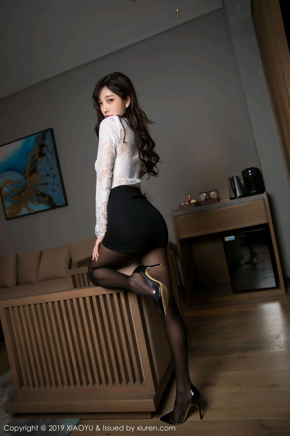 [XiaoYu] Vol.048 Yang Chen Chen 8P, Black Silk, Tall, XiaoYu, Yang Chen Chen