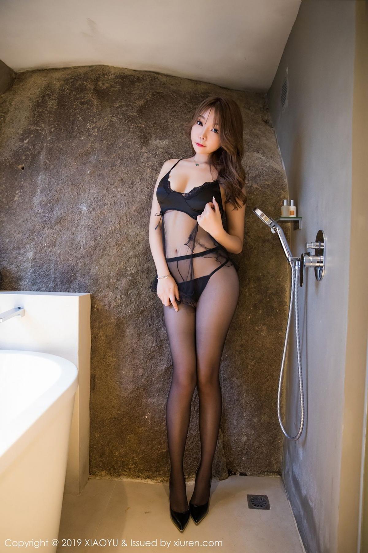 [XiaoYu] Vol.049 Zhi Zhi Booty 4P, Black Silk, Chen Zhi, Tall, XiaoYu