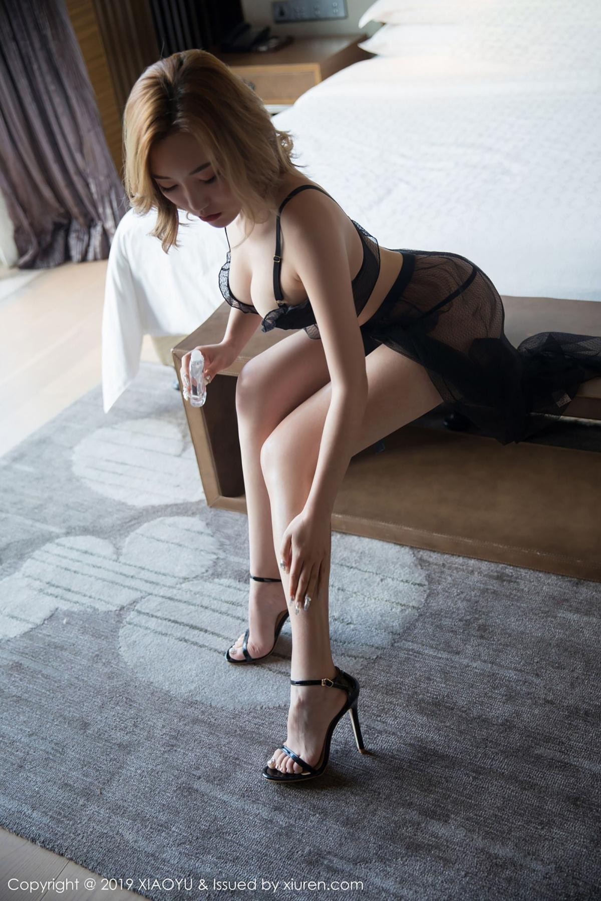 [XiaoYu] Vol.050 Hanyao Meng 13P, Black Silk, Meng Han Yao, Underwear, XiaoYu