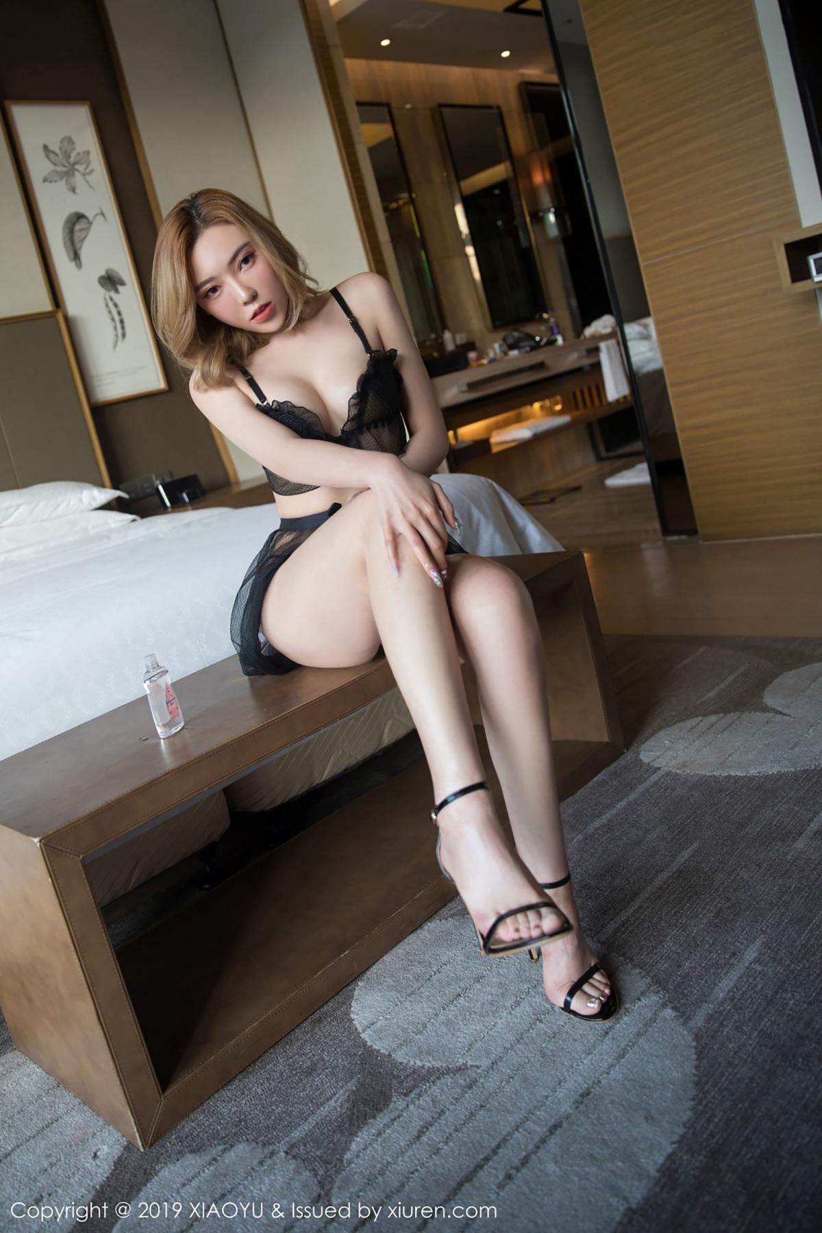 [XiaoYu] Vol.050 Hanyao Meng 20P, Black Silk, Meng Han Yao, Underwear, XiaoYu