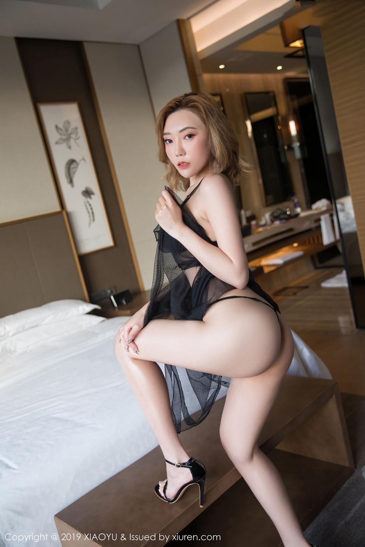 [XiaoYu] Vol.050 Hanyao Meng 30P, Black Silk, Meng Han Yao, Underwear, XiaoYu